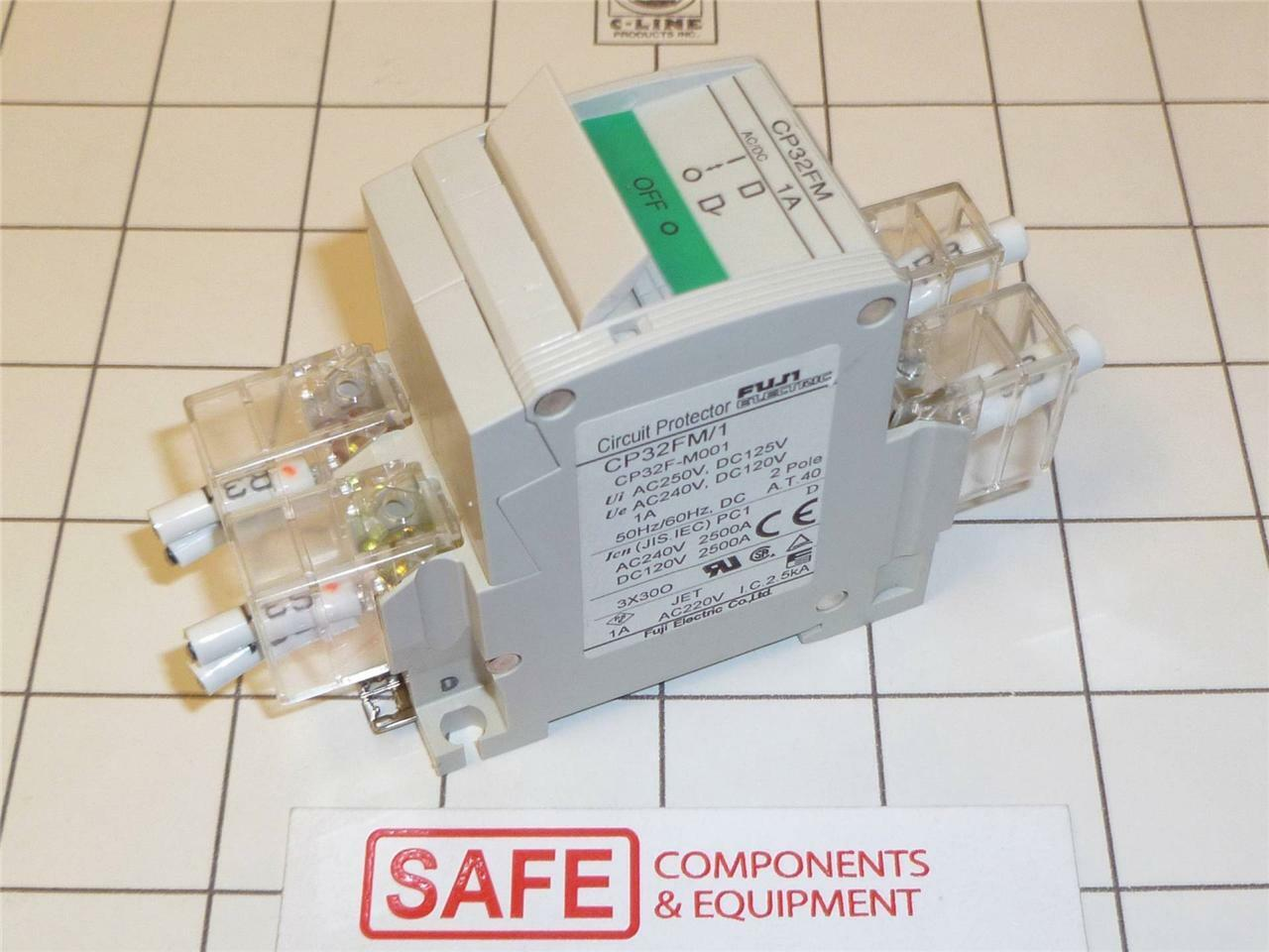 Fuji Cp32fm1 Circuit Protector Breaker 2 Pole Medium Delay 1a Din Home Residential Zinsco Type R38 Rail K35 1 Of 5