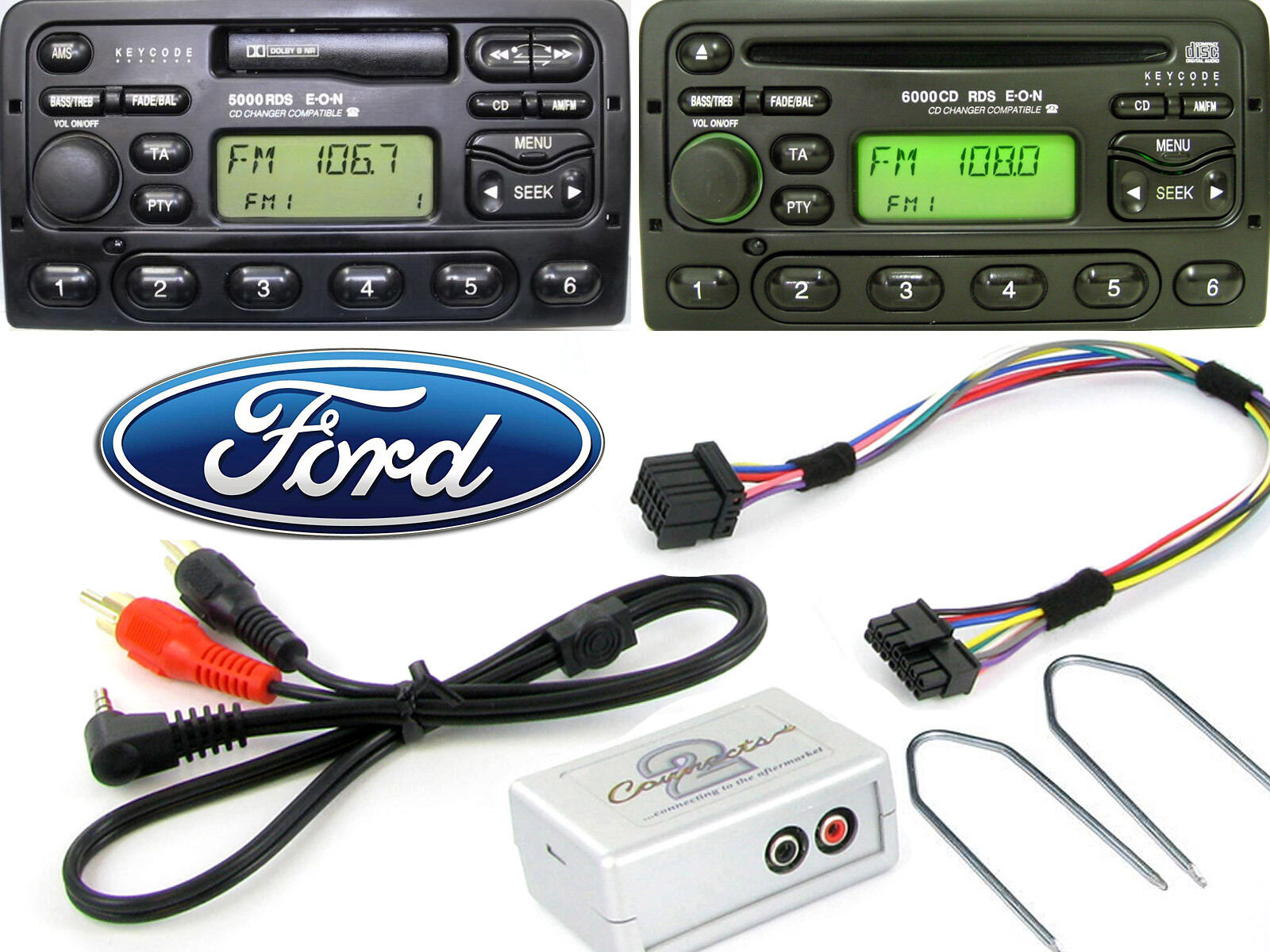 Ford Galaxy Explorer Ka Aux Adapter With Radio Removal Release Keys Ctvfox Free Shipping
