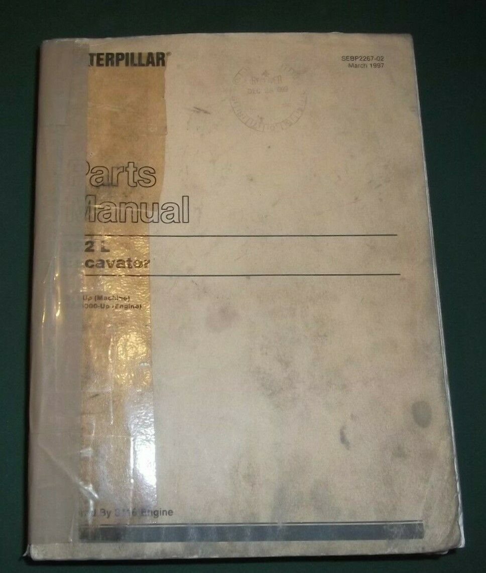 Cat Caterpillar 322L 322 L Excavator Parts Manual S/n 9Rl1-Up 1 of 3Only 1  available Cat Caterpillar 322L 322 L Excavator Parts Manual ...
