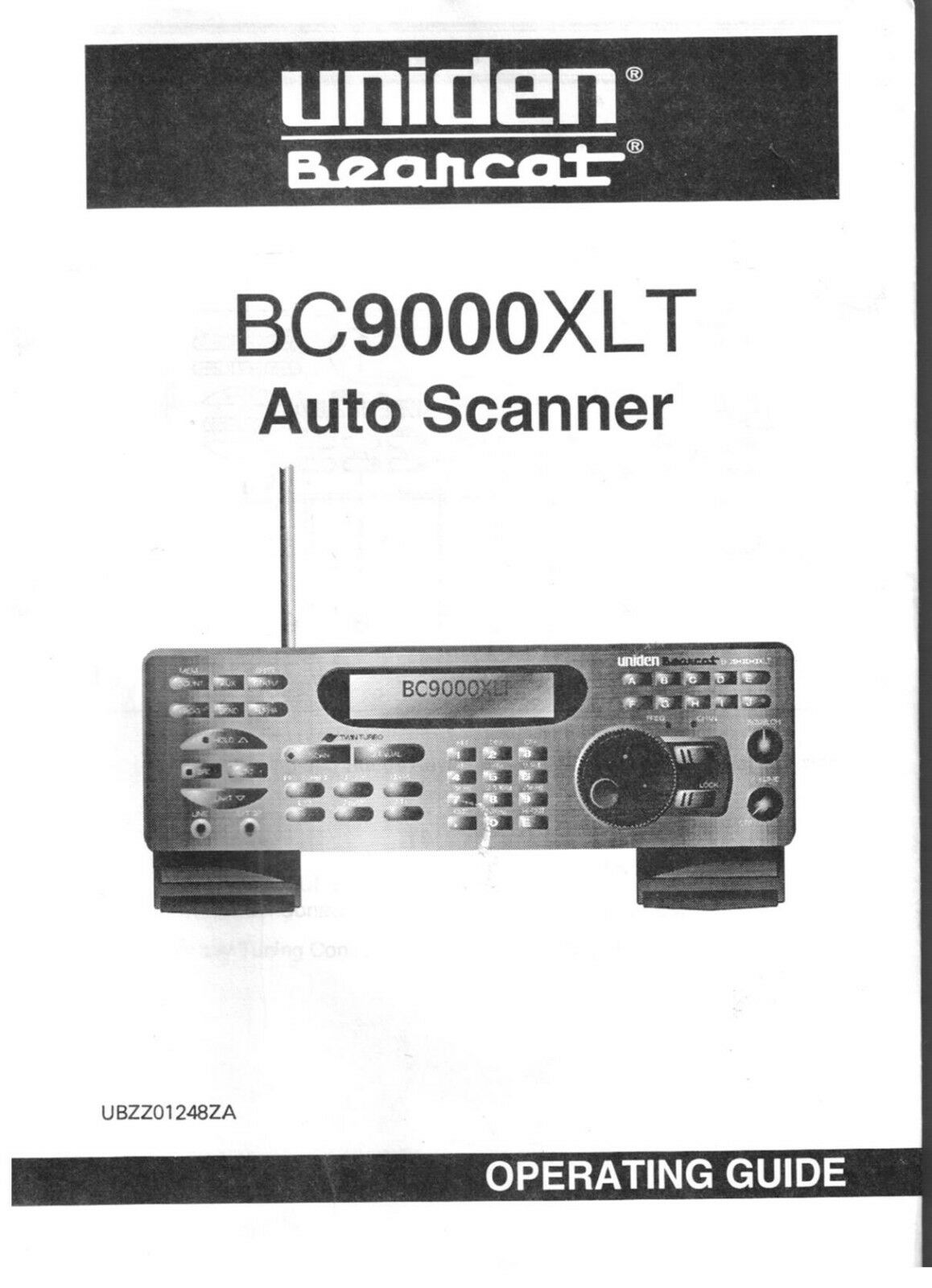 Uniden BC 9000 XLT Bearcat Police Scanner Radio Operating Users Guide Manual  1 of 1Only 1 available See More