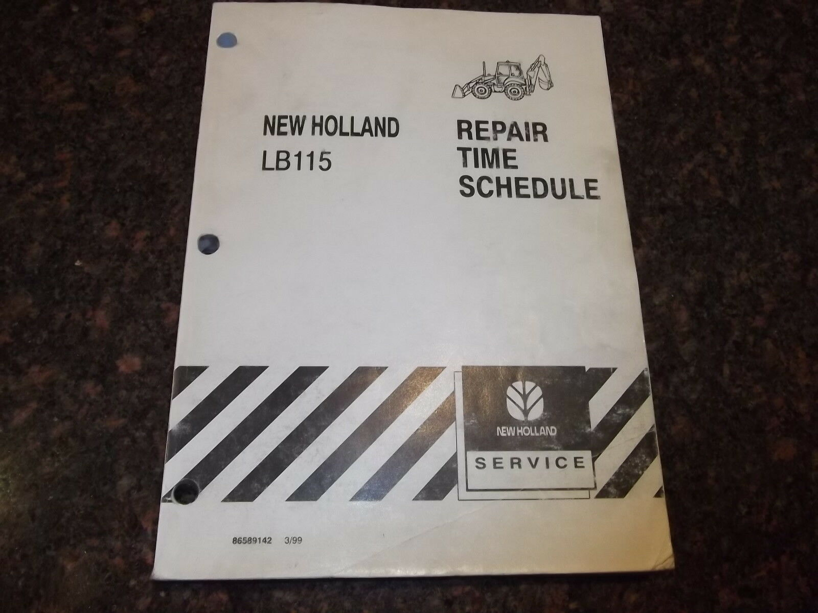 New Holland Lb115 Tractor Loader Backhoe Repair Time Schedule Manual 1 of  1Only 1 available ...