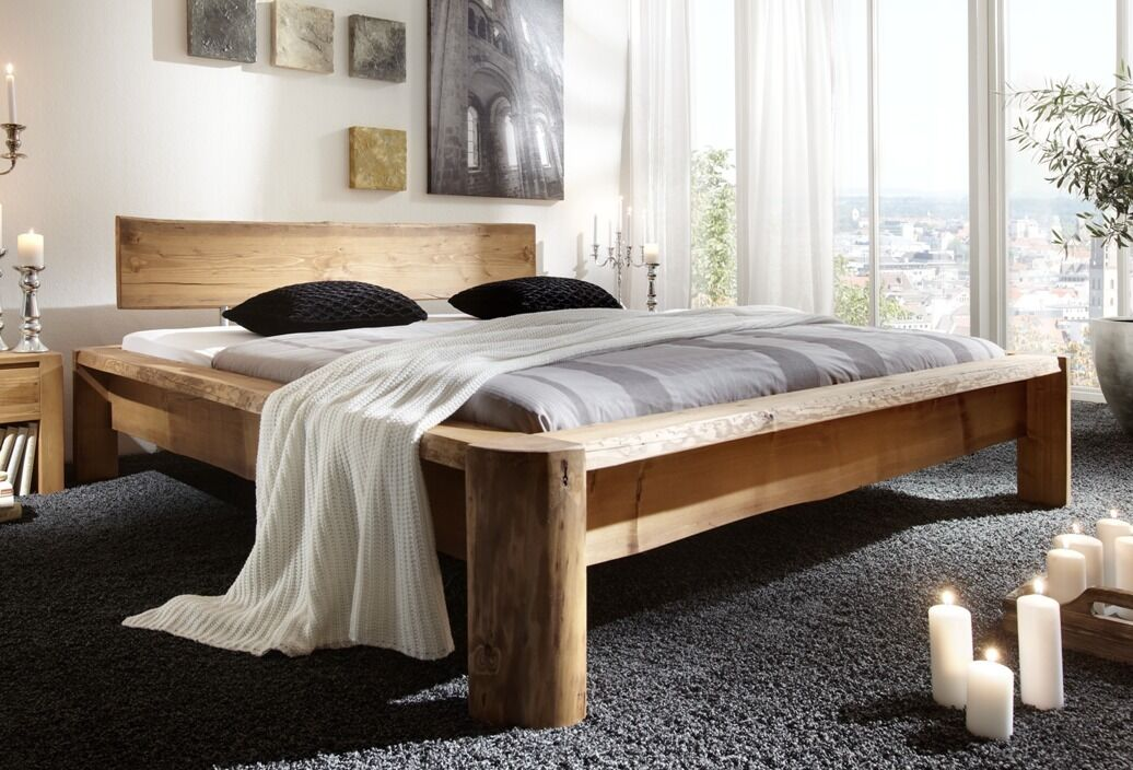 tundra massivholzbett 180x200 cm bett kiefer massiv gewachst eur 748 00 picclick de. Black Bedroom Furniture Sets. Home Design Ideas