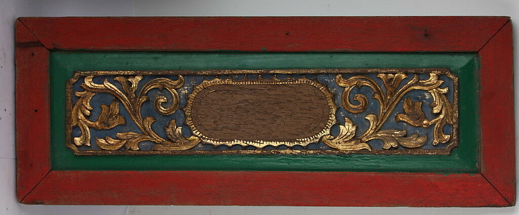 DOOR top Gold Gilt chippy old vintage WALL PANEL green red blue sign chic shabby