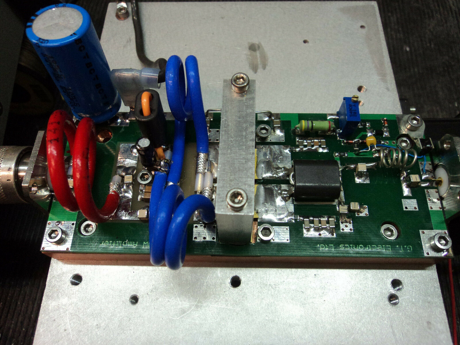 48 73 Mhz Power Amplifier Pallet 1000 Watts Class Ab Ssb Fm For Ham Amplifiers 1 Of 6only 2 Available