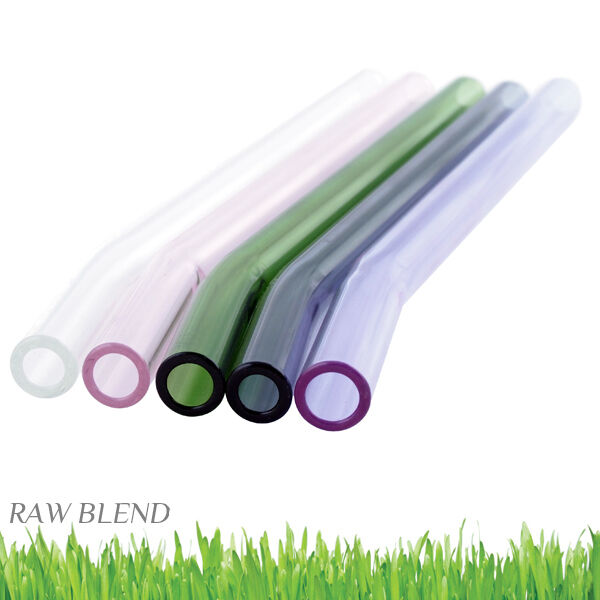Glass Straws - Straight and Bent - Raw Blend