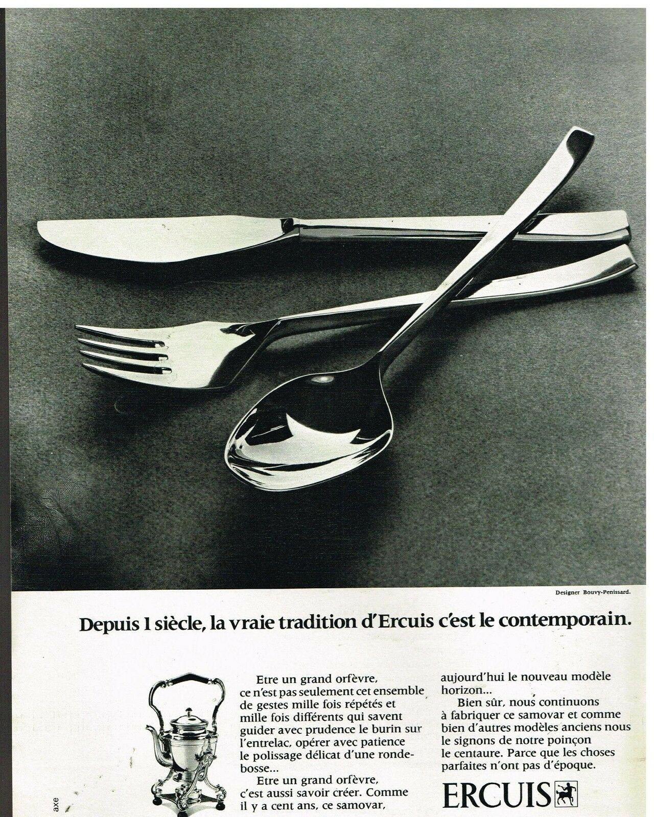 Publicit Advertising 1972 Orf Vre Argenterie Les Couverts
