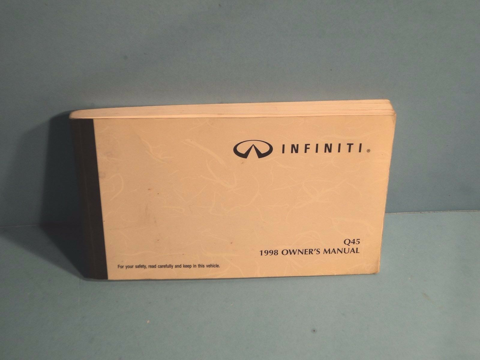 98 1998 Infiniti Q45 owners manual 1 of 1Only 2 available ...