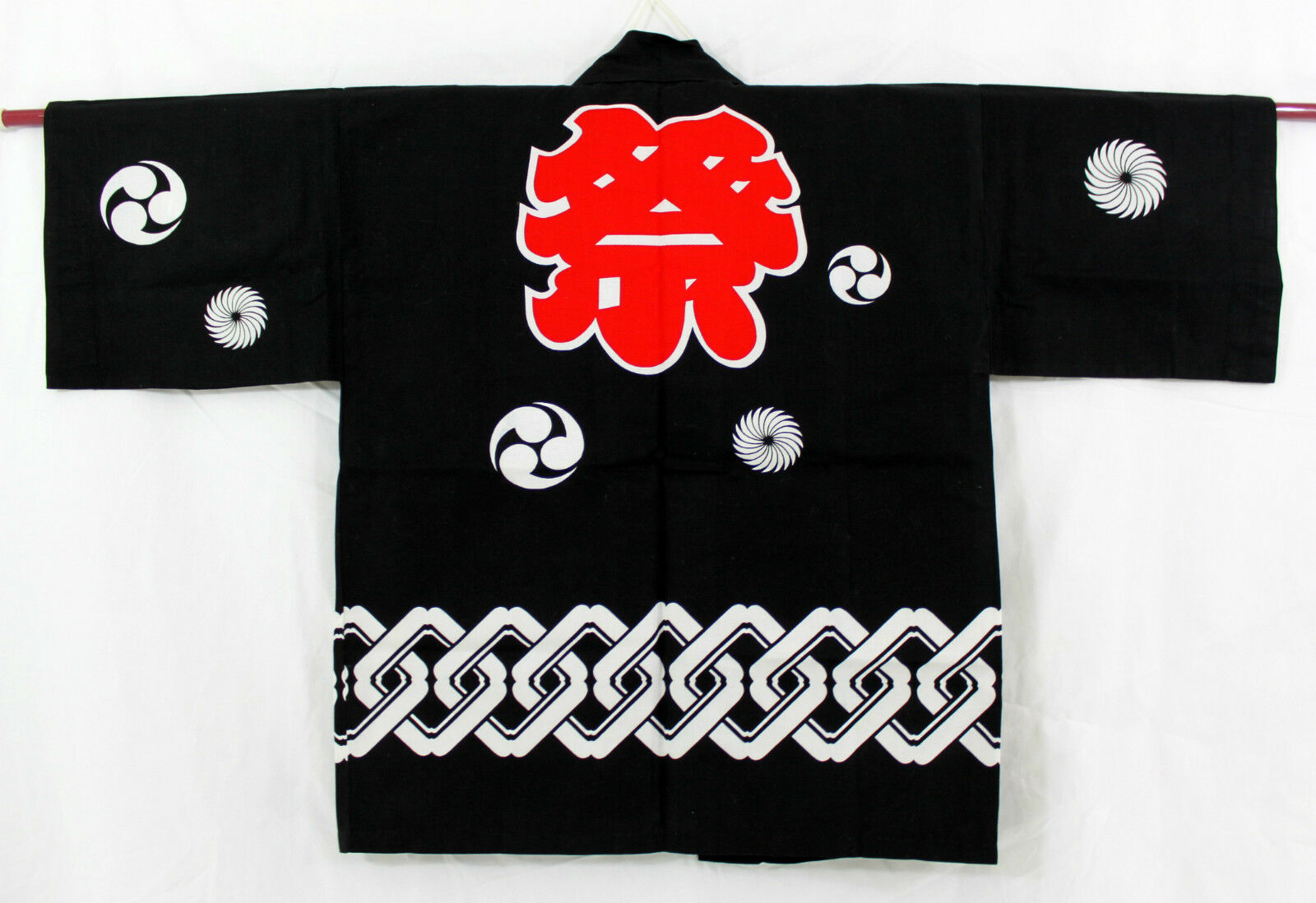 法被 Happi japonais - SMALL BLACK Matsuri - Made in Japan - 3322560