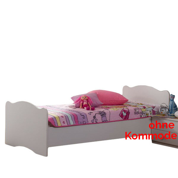 jugendbett m dchen einzelbett kinderbett bett gestell jugendzimmer kinderzimmer eur 149 90. Black Bedroom Furniture Sets. Home Design Ideas