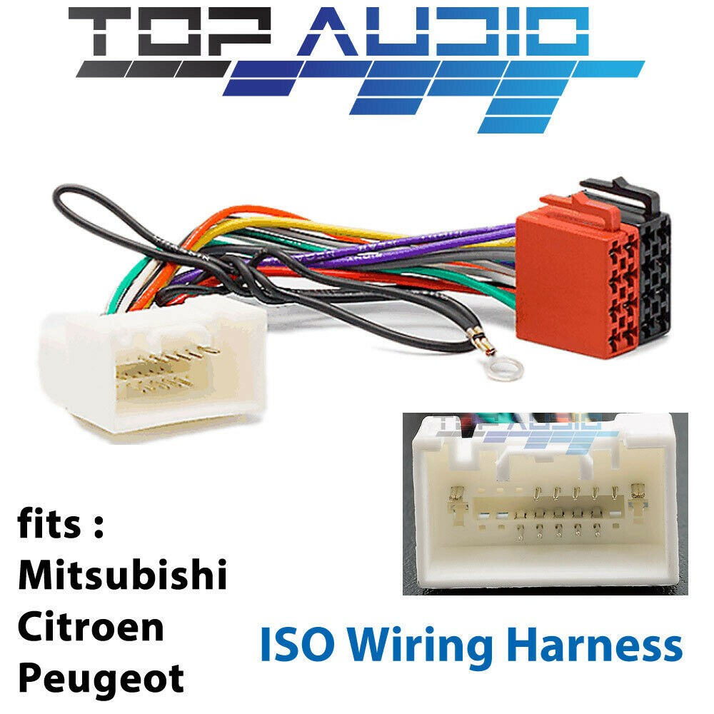 Mitsubishi ISO WIRING HARNESS stereo radio plug lead wire loom connector  adaptor 1 of 4 See More