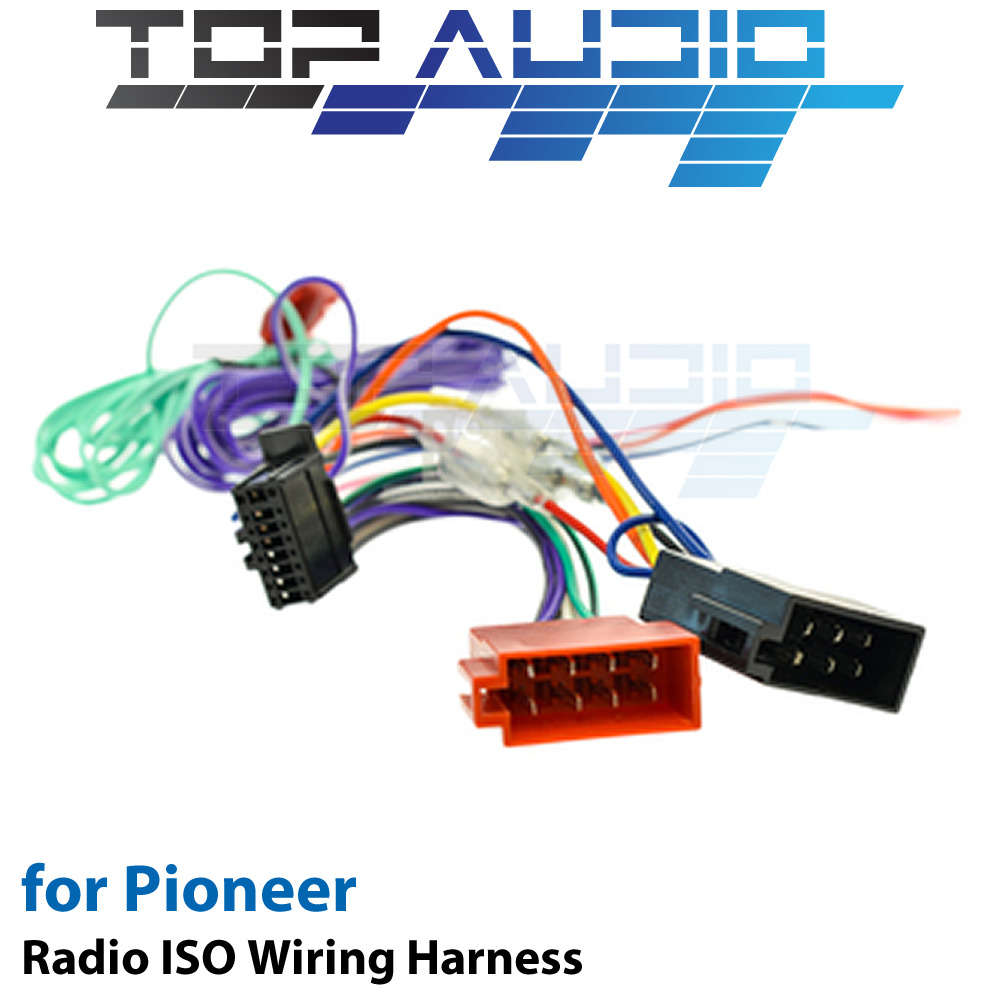 Pioneer Iso Wiring Harness Cable Adaptor Connector Lead Avh X3750dvd Fh X700bt 1 Of 4free Shipping