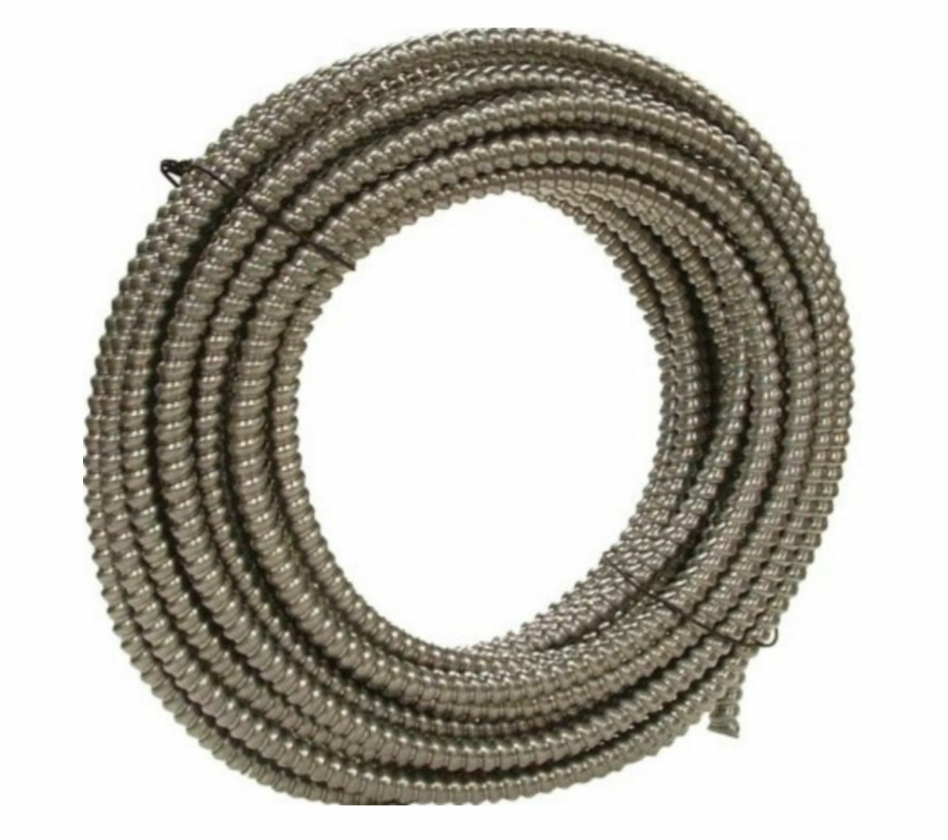 New 100 Southwire Metal Flex Flexible 3 8 Conduit 375 Electrical Wire 1 Of 2only Available