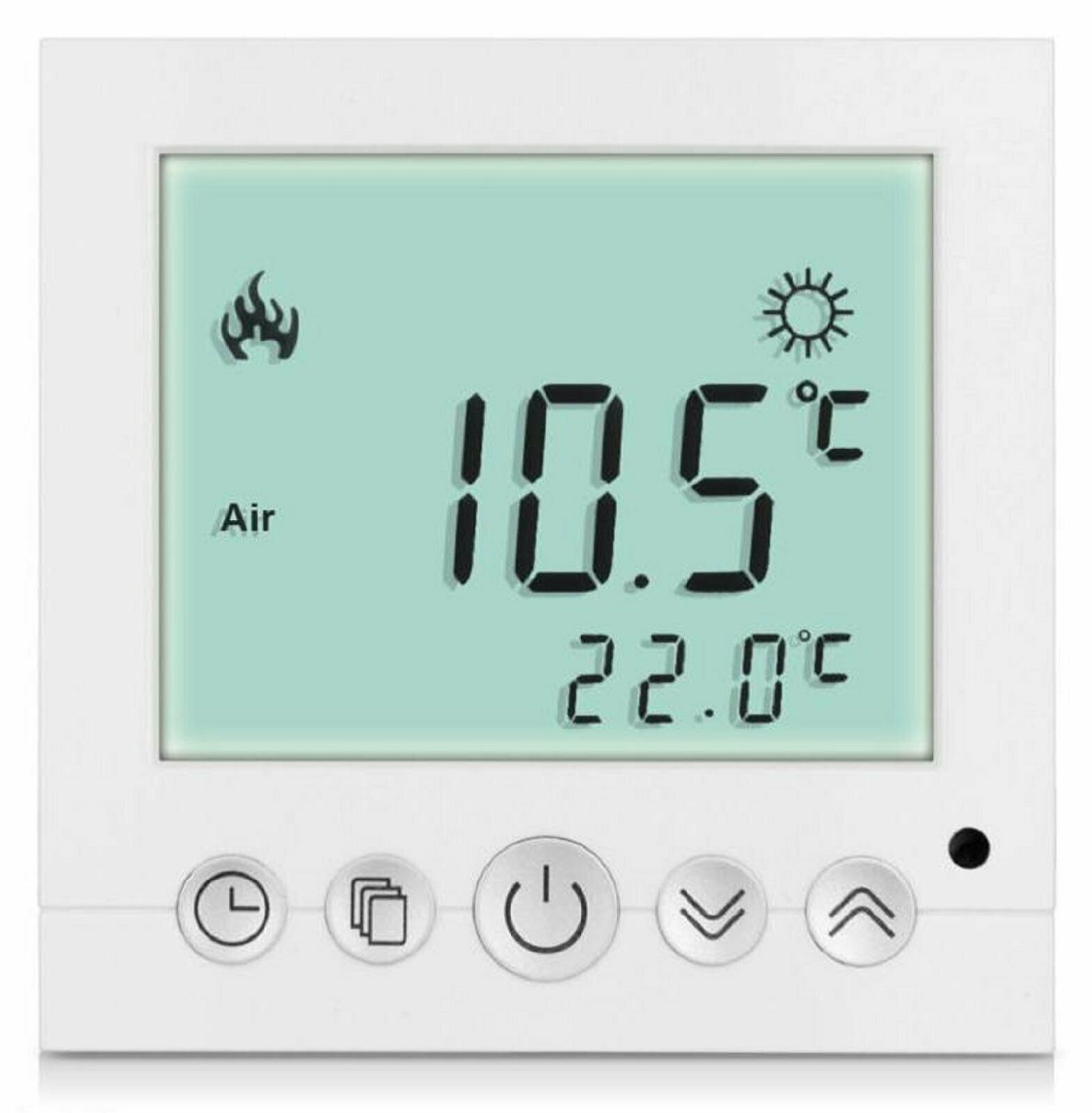 digital thermostat raumthermostat fu bodenheizung wandheizung led wei a31 eur 18 99. Black Bedroom Furniture Sets. Home Design Ideas