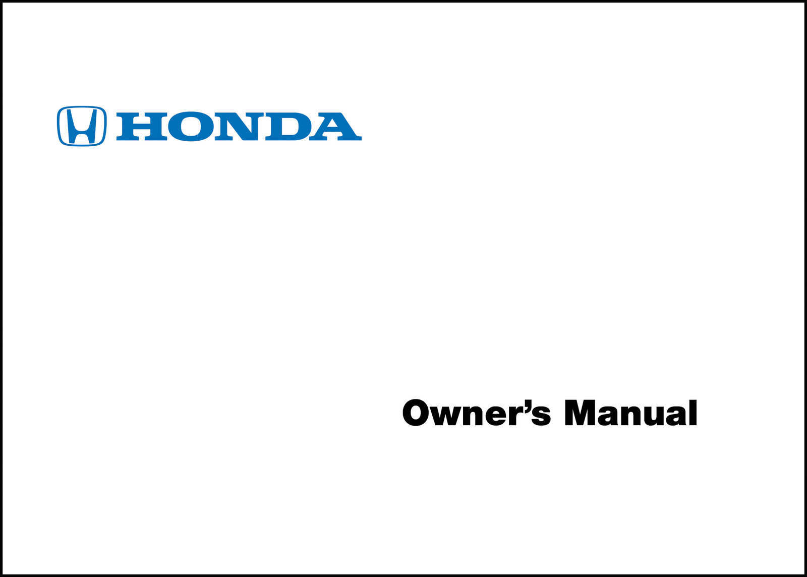Honda 2001 Accord 4 Door Ka Kl Owner Manual 01 4095 Picclick 2003 Mountaineer And Explorer Wiring Diagram Original 1 Of 1free Shipping