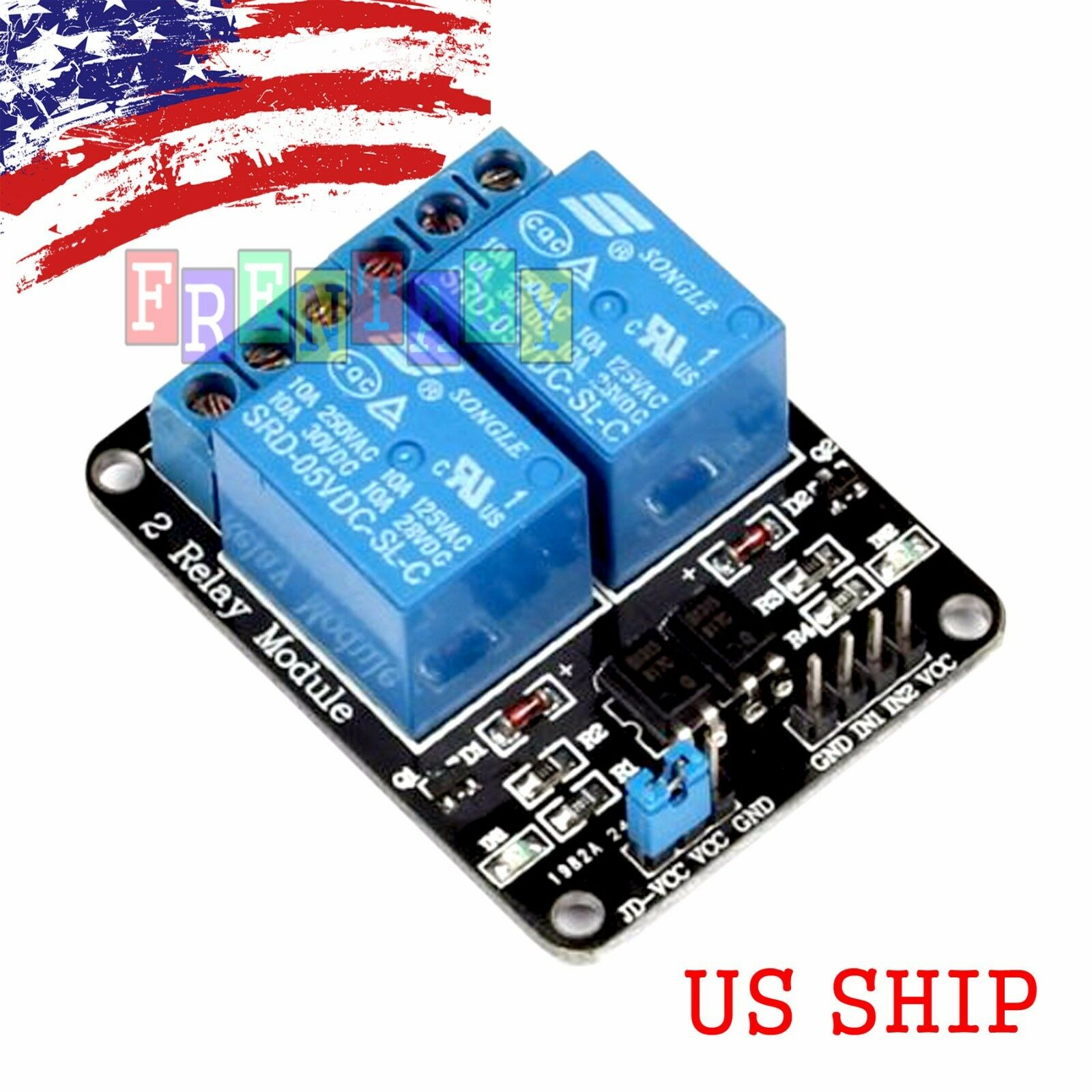2 Channel Dc 5v Relay Switch Board Module For Arduino Raspberry Pi Arm Avr 449 1 Of 4free Shipping