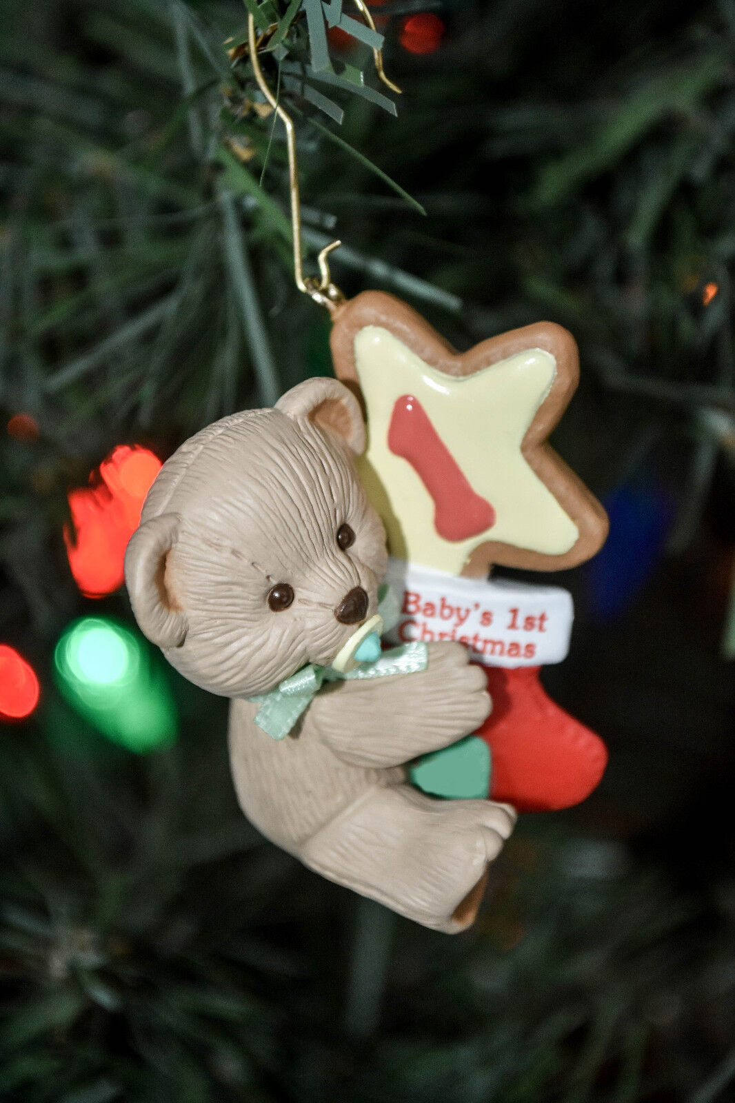 hallmark babys first christmas bear star and stocking ornament 1 of 9only 2 available