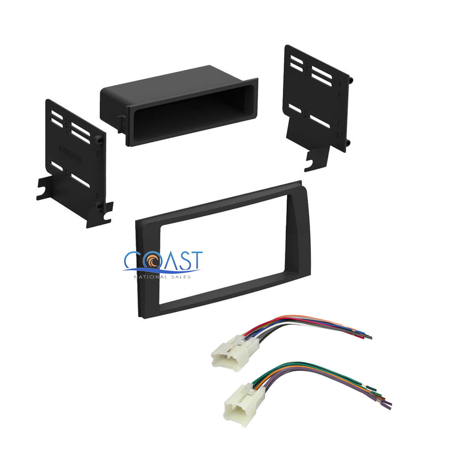 Car Stereo Double DIN Dash Kit Wiring Harness for 2003-2009 Toyota 4 Runner  1 of 3FREE Shipping See More