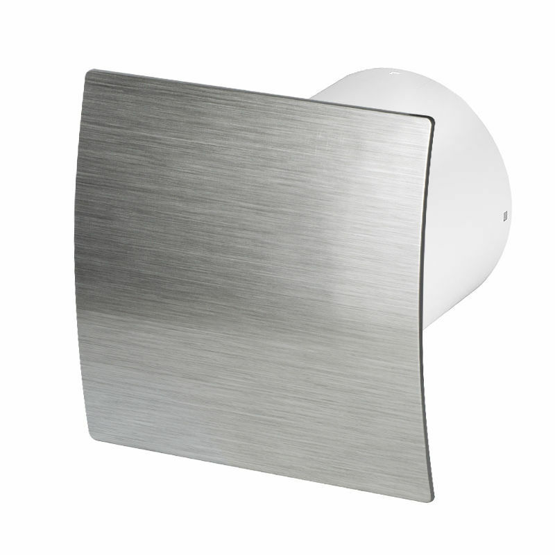 Bathroom Extractor Fan 100mm 4 With Humidity Sensor Timer Silver Panel Wes100h Eur 27 22