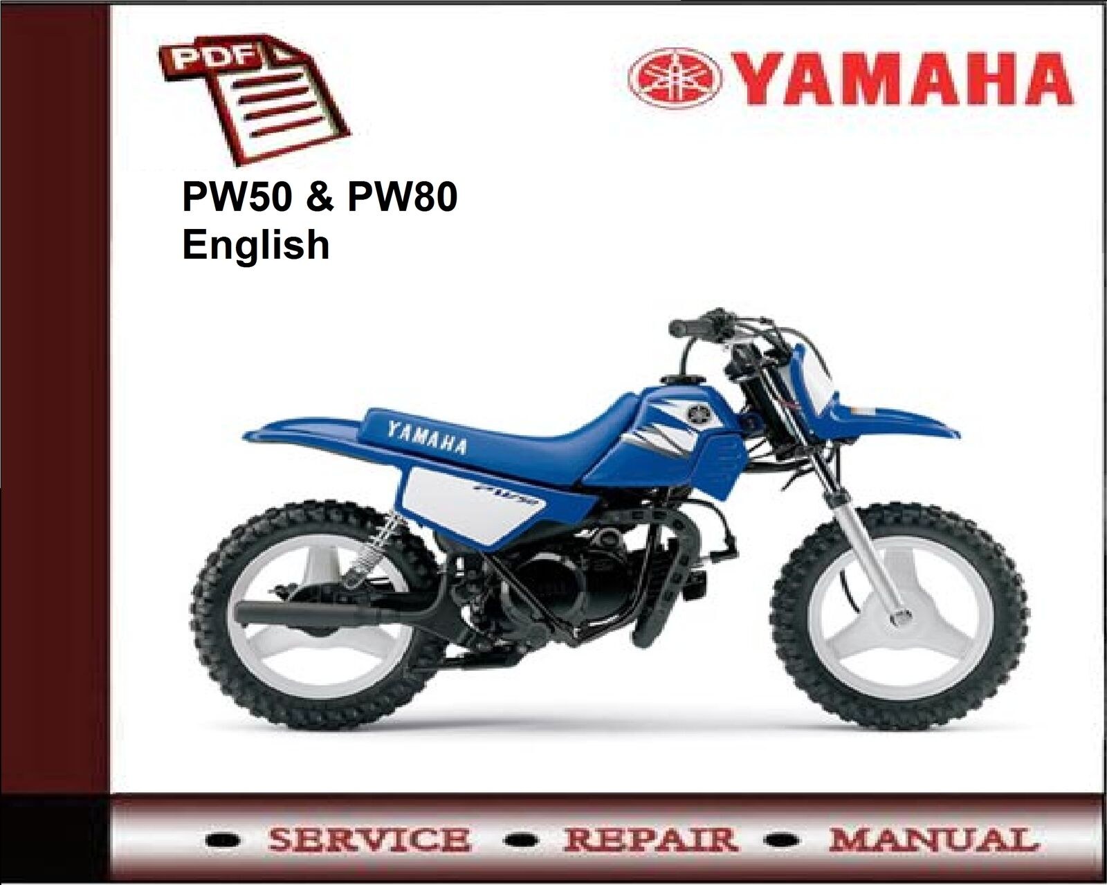 ... Array - yamaha pw50 u0026 pw80 service repair workshop manual 6 50  picclick uk rh picclick