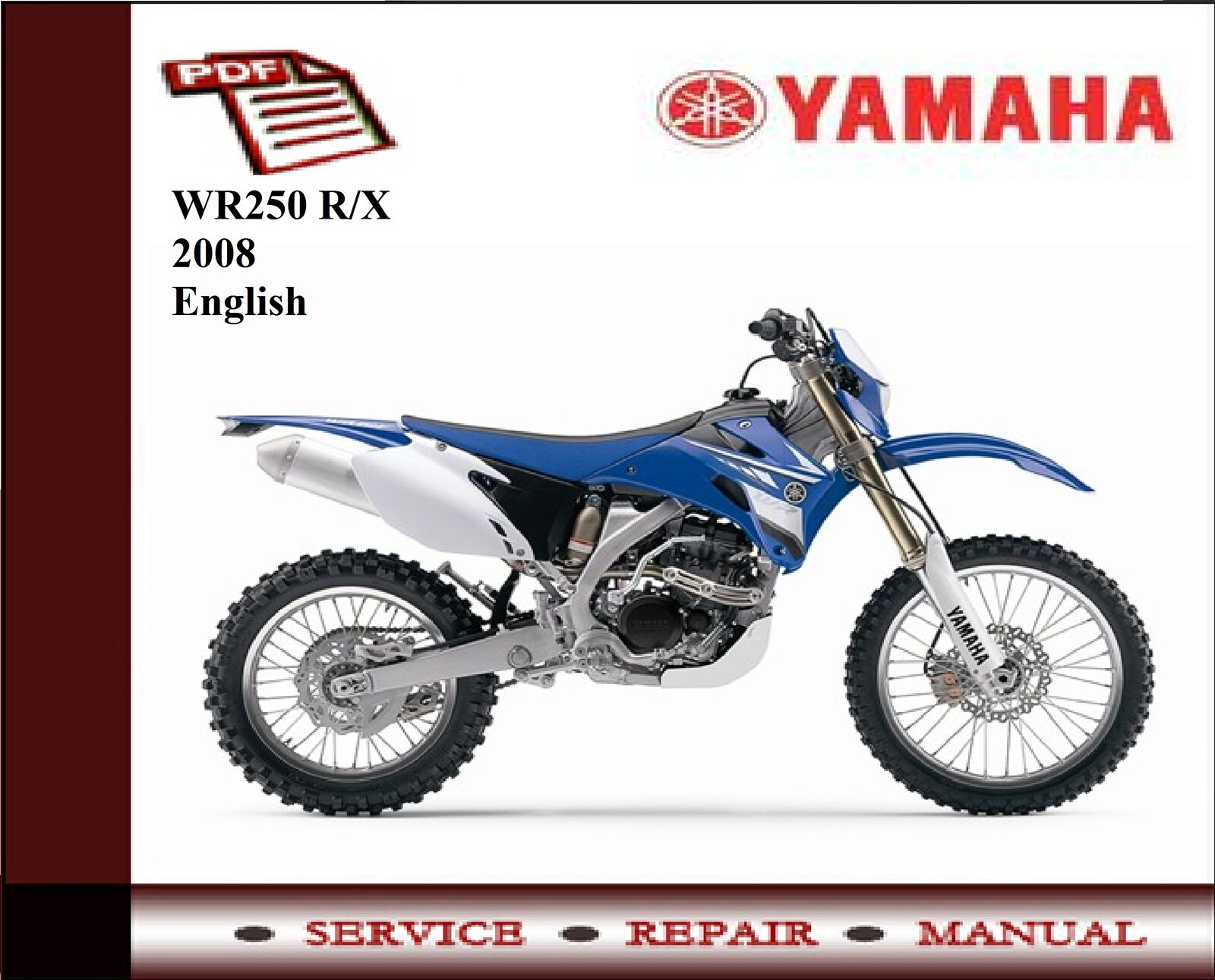 Yamaha Wr250 Wr 250 R X 2008 Workshop Service Repair Manual Wiring Wr250r Diagram 1 Of 1free Shipping See More