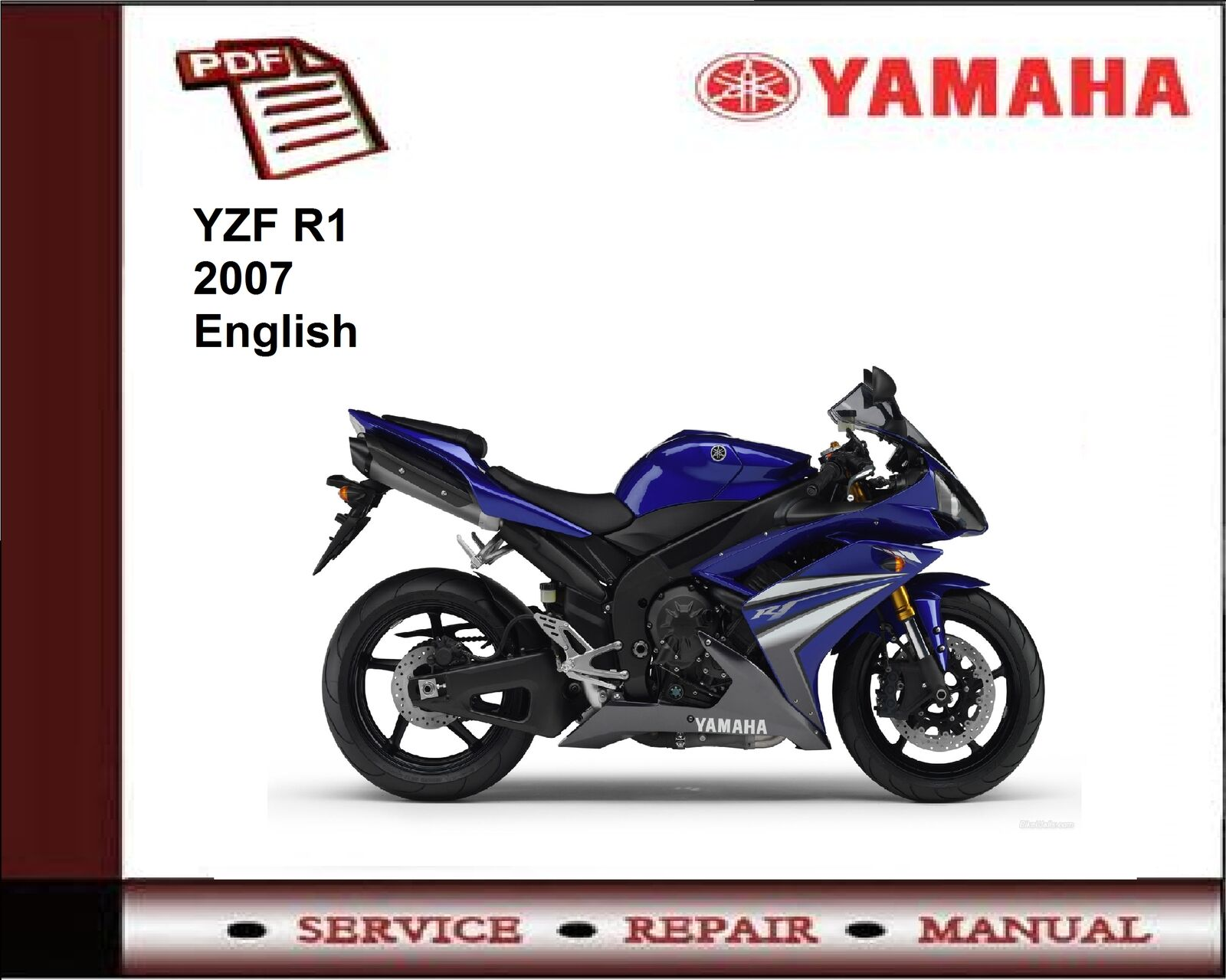 Yamaha YZF R1 YZFR1 2007 Workshop Service Repair Manual 1 of 1FREE Shipping  ...