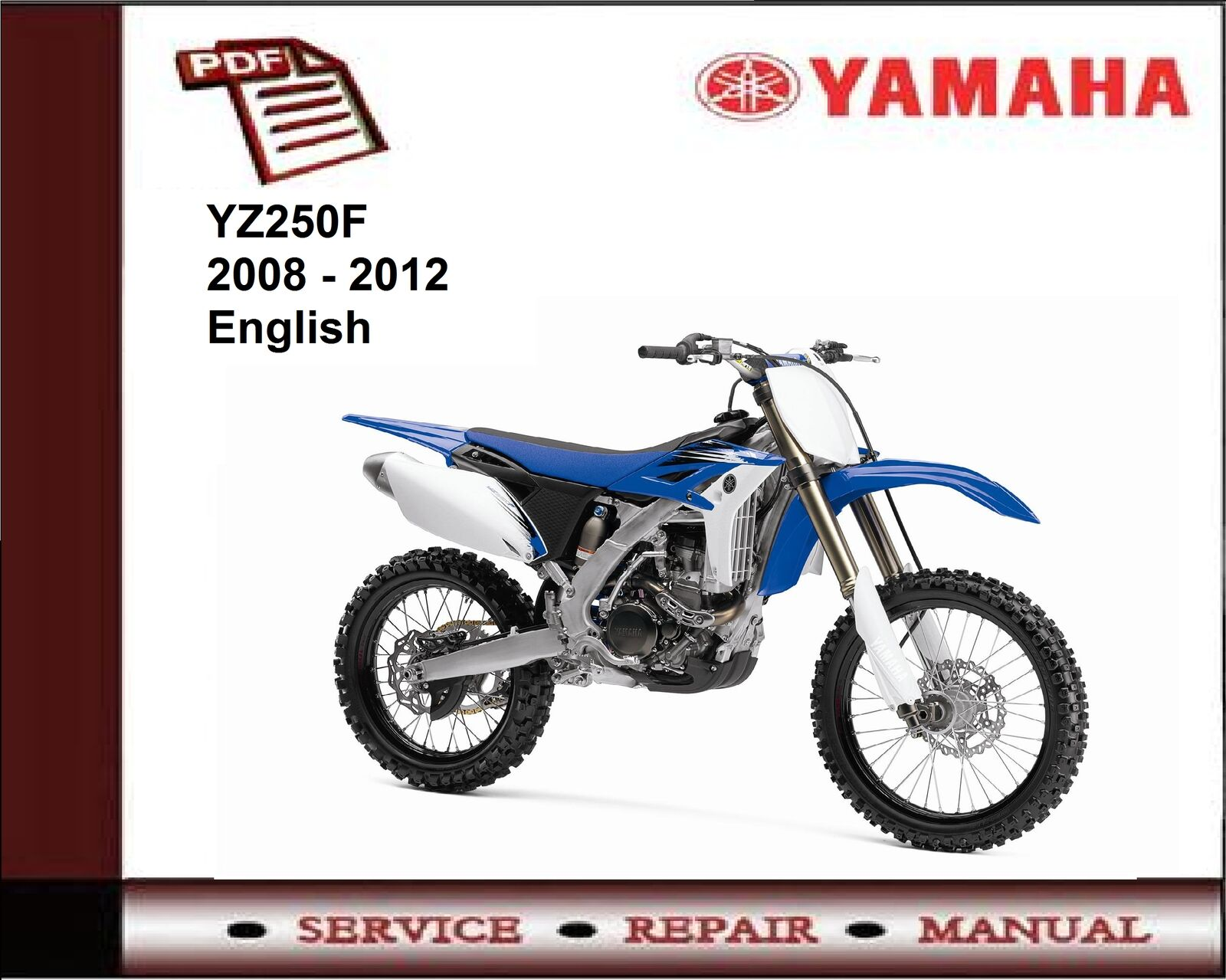 Yamaha YZ250F YZ250 F 2008 - 2012 Workshop Service Repair Manual 1 of 1FREE  Shipping ...