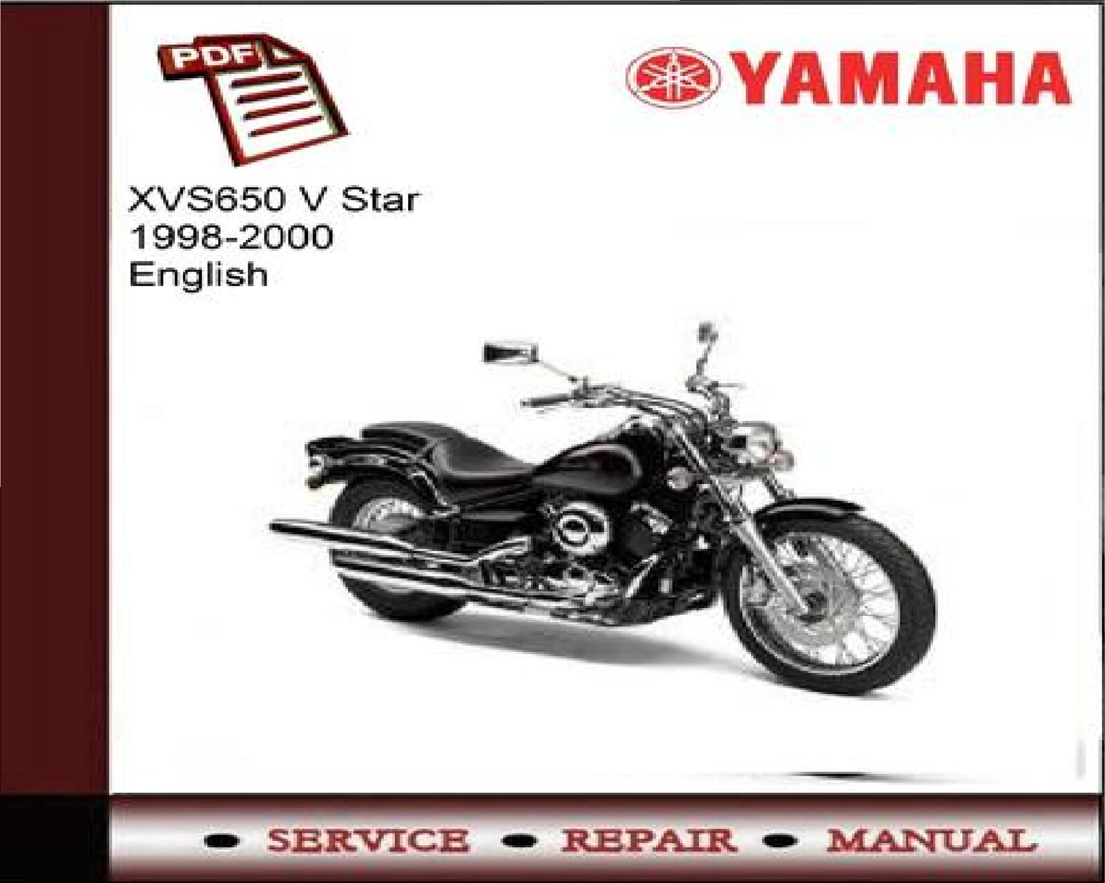 Yamaha XVS650 XVS 650 V Star 1998 - 2000 Service Repair Workshop Manual 1  of 1FREE Shipping See More