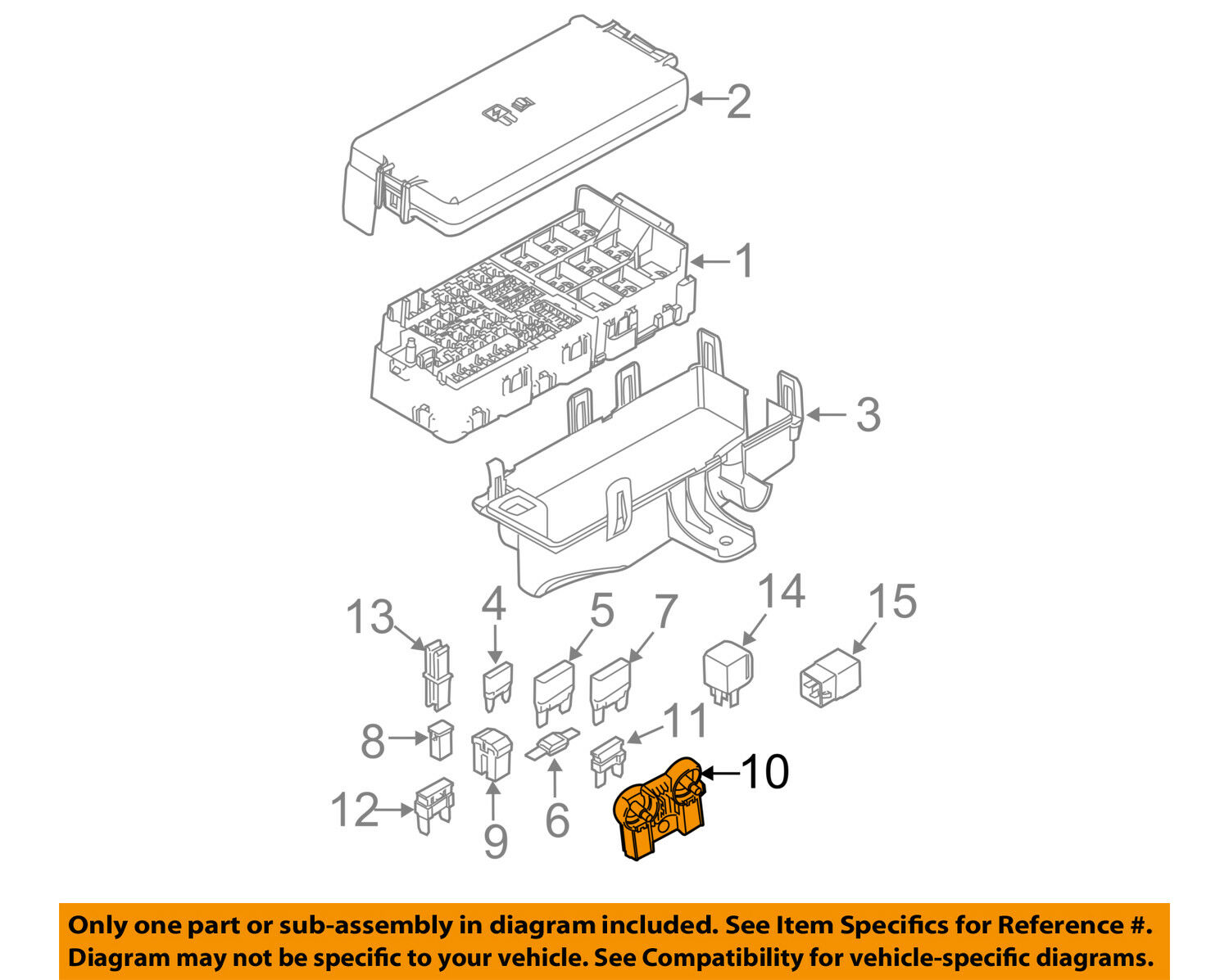 Ford Oem 11 14 Mustang 50l V8 Fuse Relay Circuit Breaker With Br3z14526aa 1 Of 2only Available See More