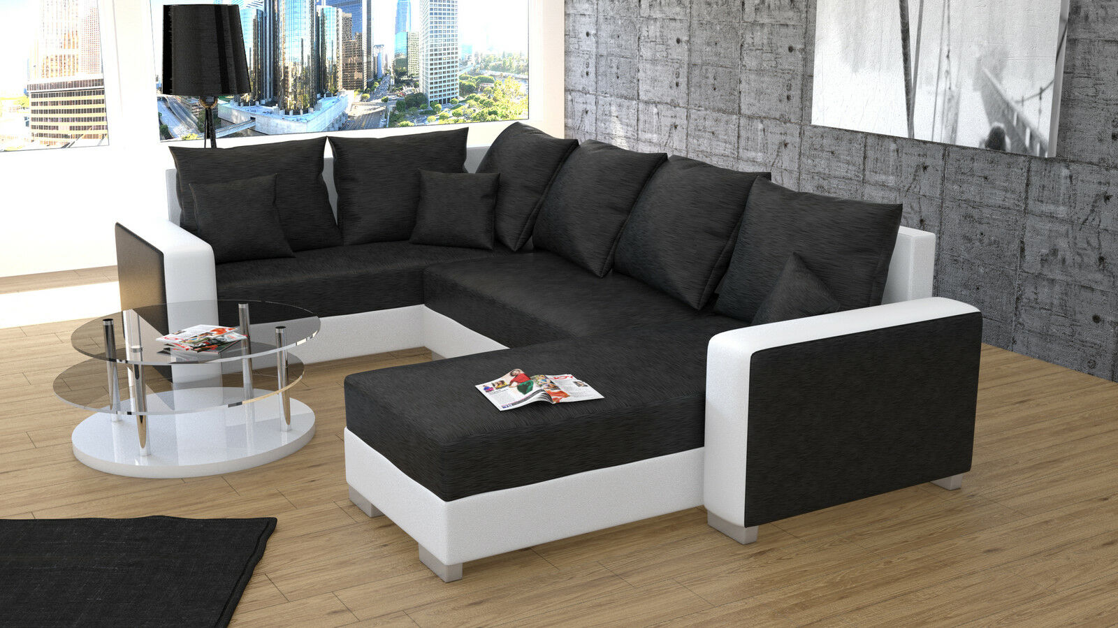 Couch garnitur ecksofa sofagarnitur sofa palio 1 u for Ecksofa garnitur