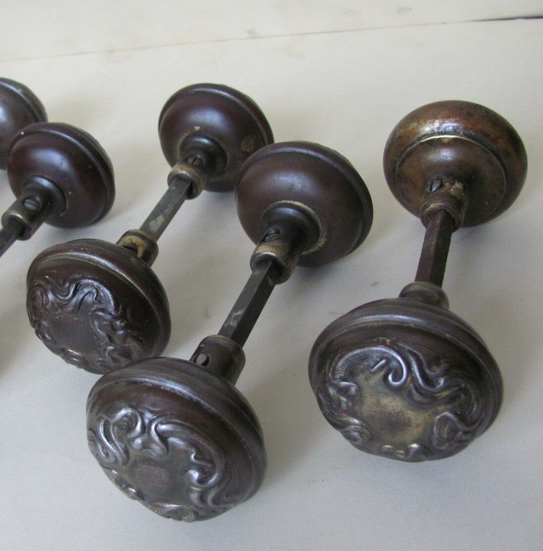 1 PAIR of Antique ART NOUVEAU Door Knobs - REFURBISHED! (9 AVAILABLE)