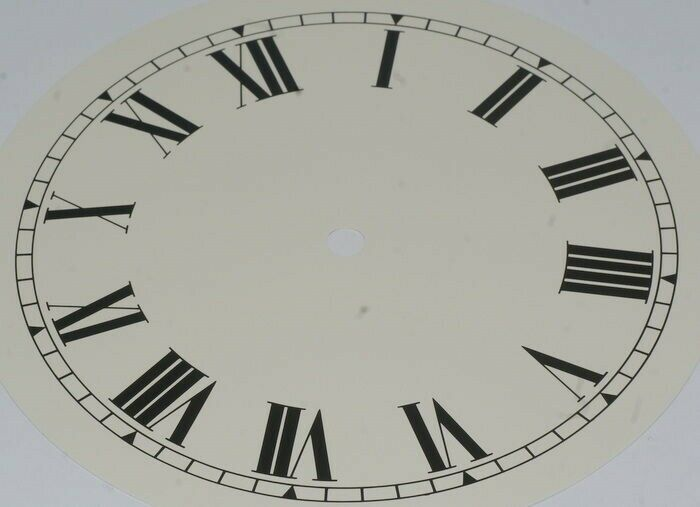 Clock dial 8 inches 203mm roman numerals on off white background new dials