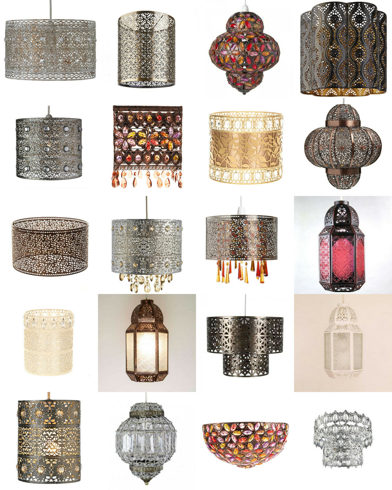 shabby chic moroccan light shade ceiling pendant lampshade. Black Bedroom Furniture Sets. Home Design Ideas