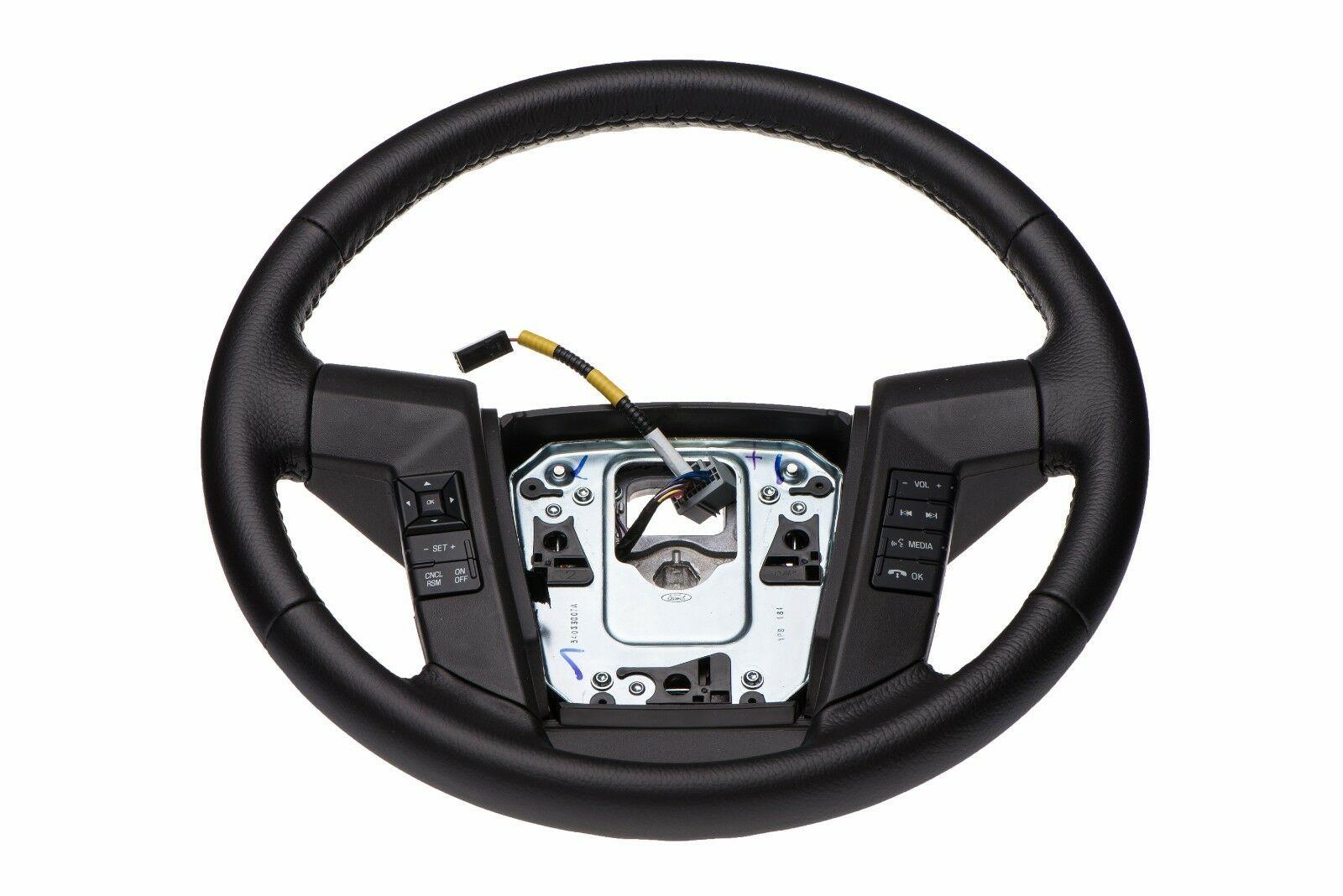 2011 2014 Ford F150 Black Leather Steering Wheel W Cruise Sync F 150 Fuse Diagram Interior 1 Of 7only 2 Available