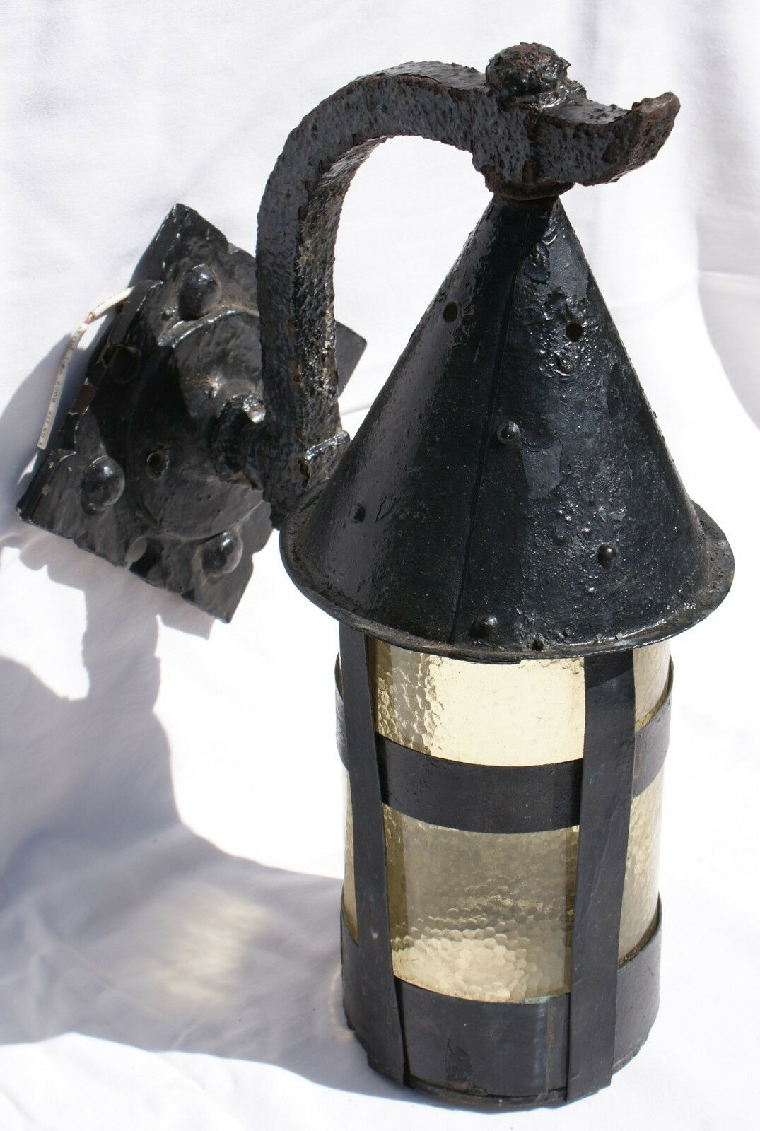 Old Gothic Craftsman Tudor Arts Crafts Witch's Hat Cottage Porch Light Sconce