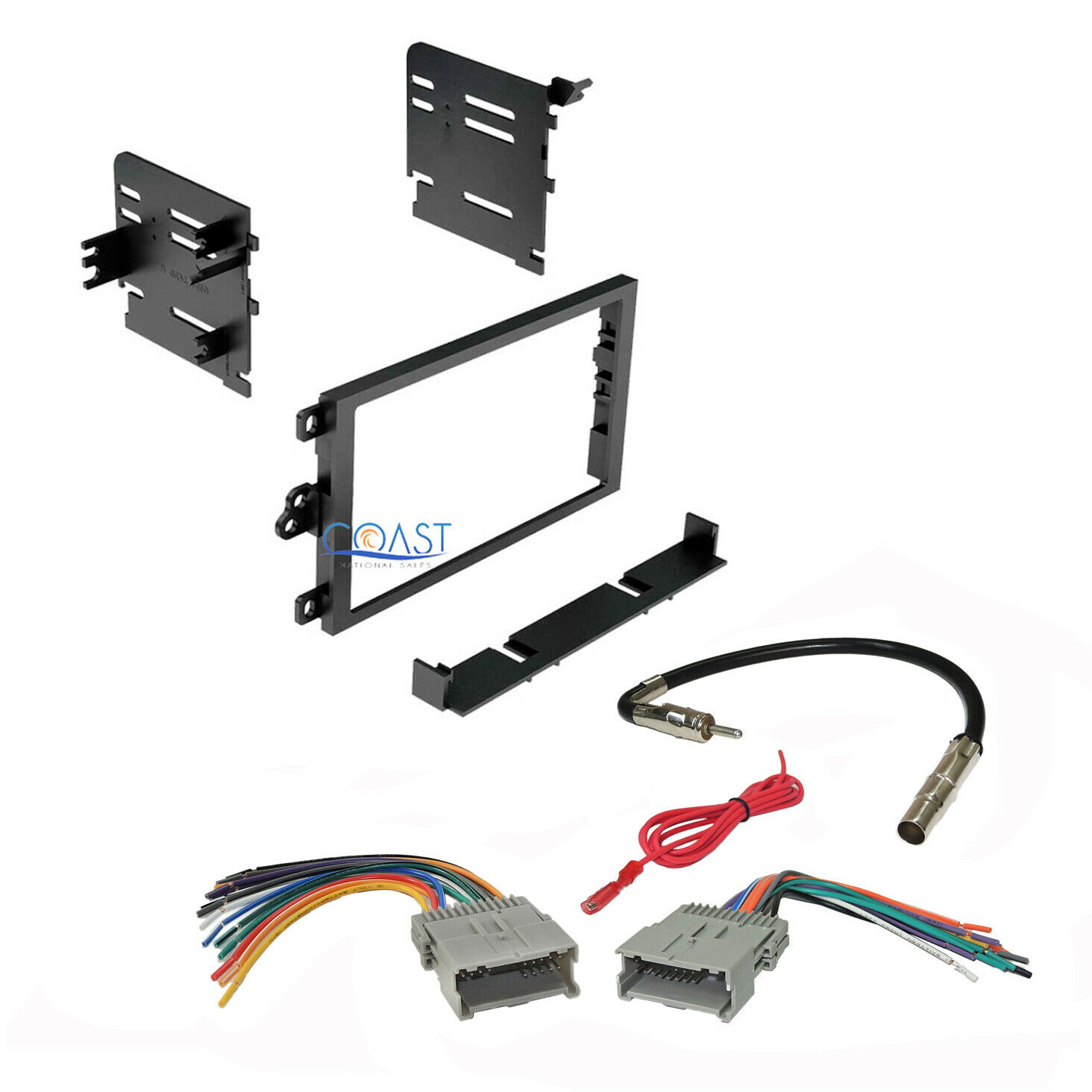 Car Stereo Double Din Dash Kit Harness Antenna For 1992 Up Chevy Gmc Kenwood Audio Touch Screen In Addition Monte Carlo Wiring Diagram 1 Of 4free Shipping