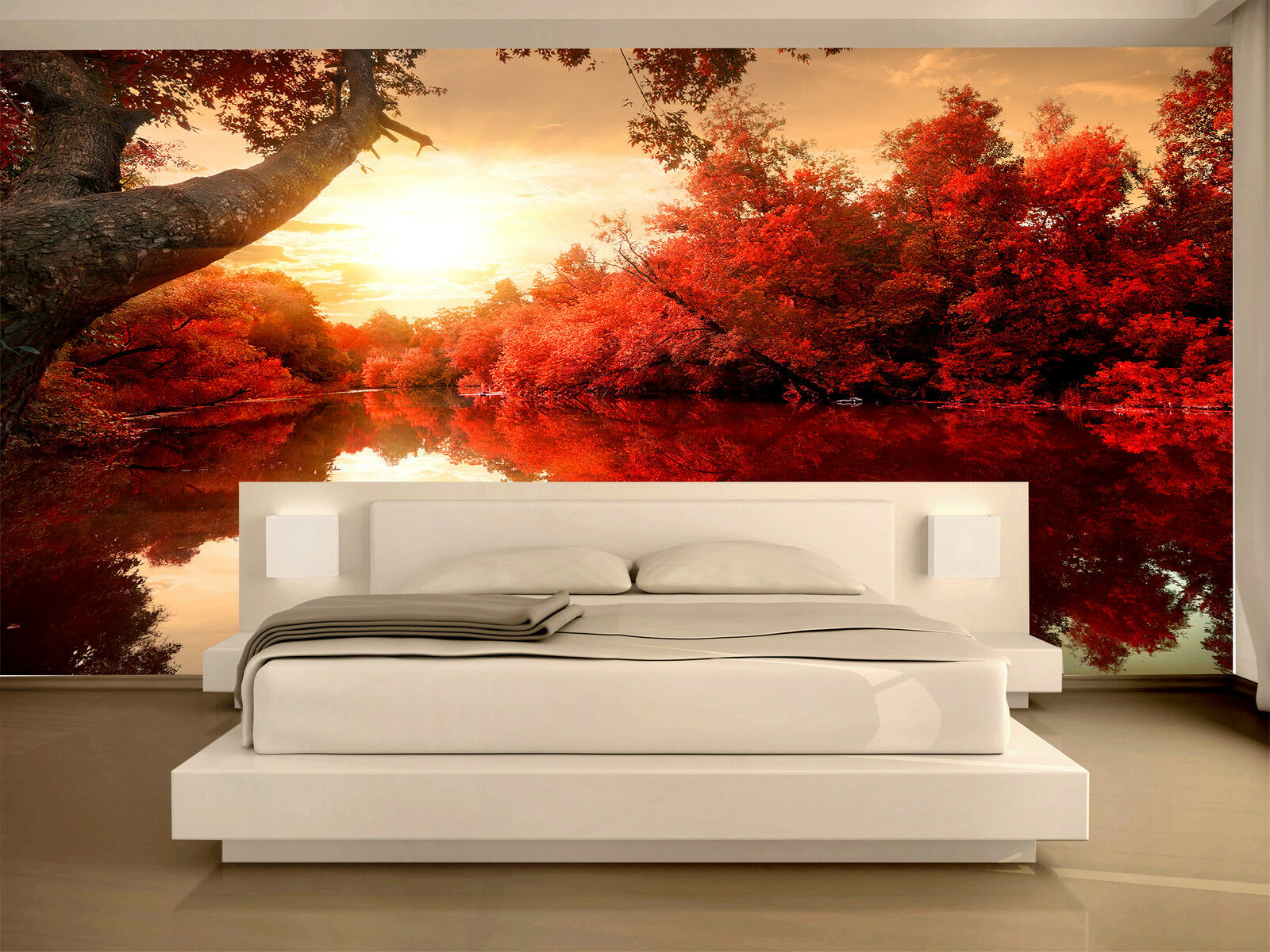 red autumn wall mural photo wallpaper giant decor paper poster red autumn wall mural photo wallpaper giant decor paper poster free paste