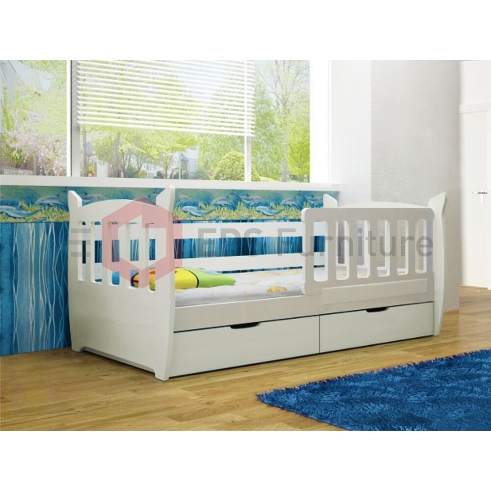 Childrens bedroom furniture set colour white single bed wardrobe chest of drawer Home furniture single bed
