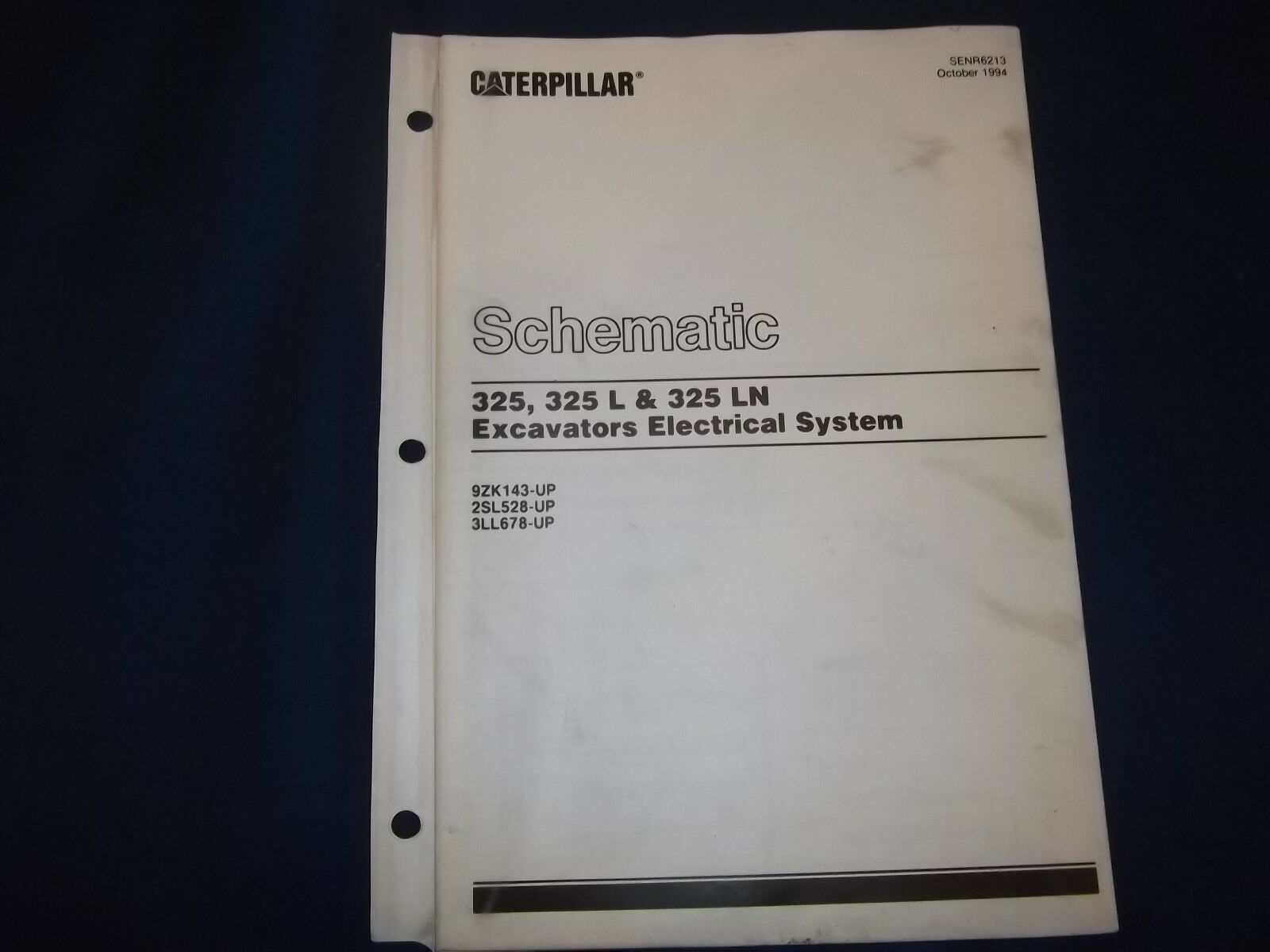 Cat Caterpillar 325 L Ln Excavator Electrical Schematic Book Manual  Senr6213 1 of 2Only 1 available ...