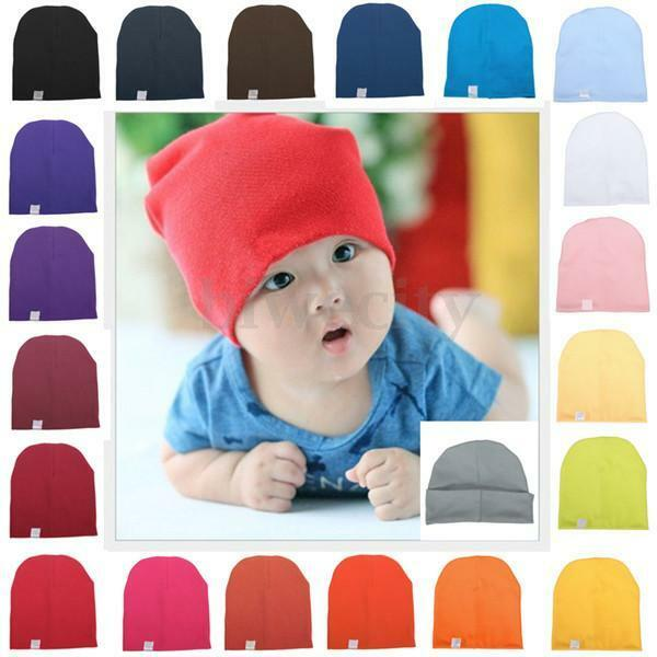 0ac7fa4dfdf Unisex Cotton Beanie Hat For Cute Baby Boy Girl Soft Toddler Newborn Infant  Cap 1 of 5 ...