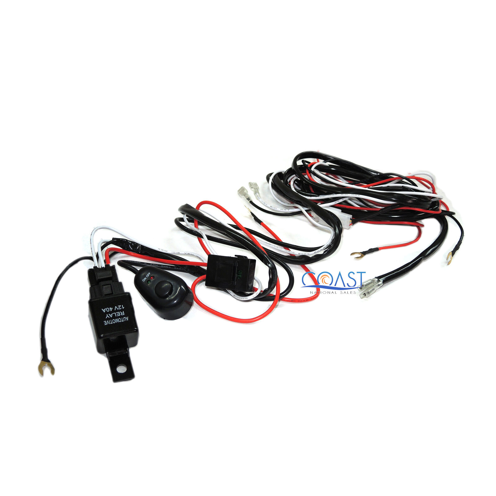 Cree LED Light Bar 7 ft. Dual On-Off Switch 40A Relay Wiring Harness 1 of  1FREE Shipping See More