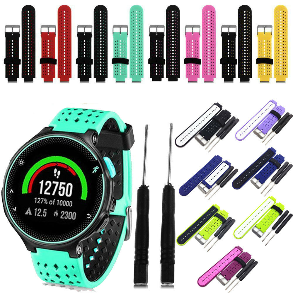 Soft Silicone Replacement Watch Band Strap For Garmin Forerunner 235 Frost Blue 630 230 Gb
