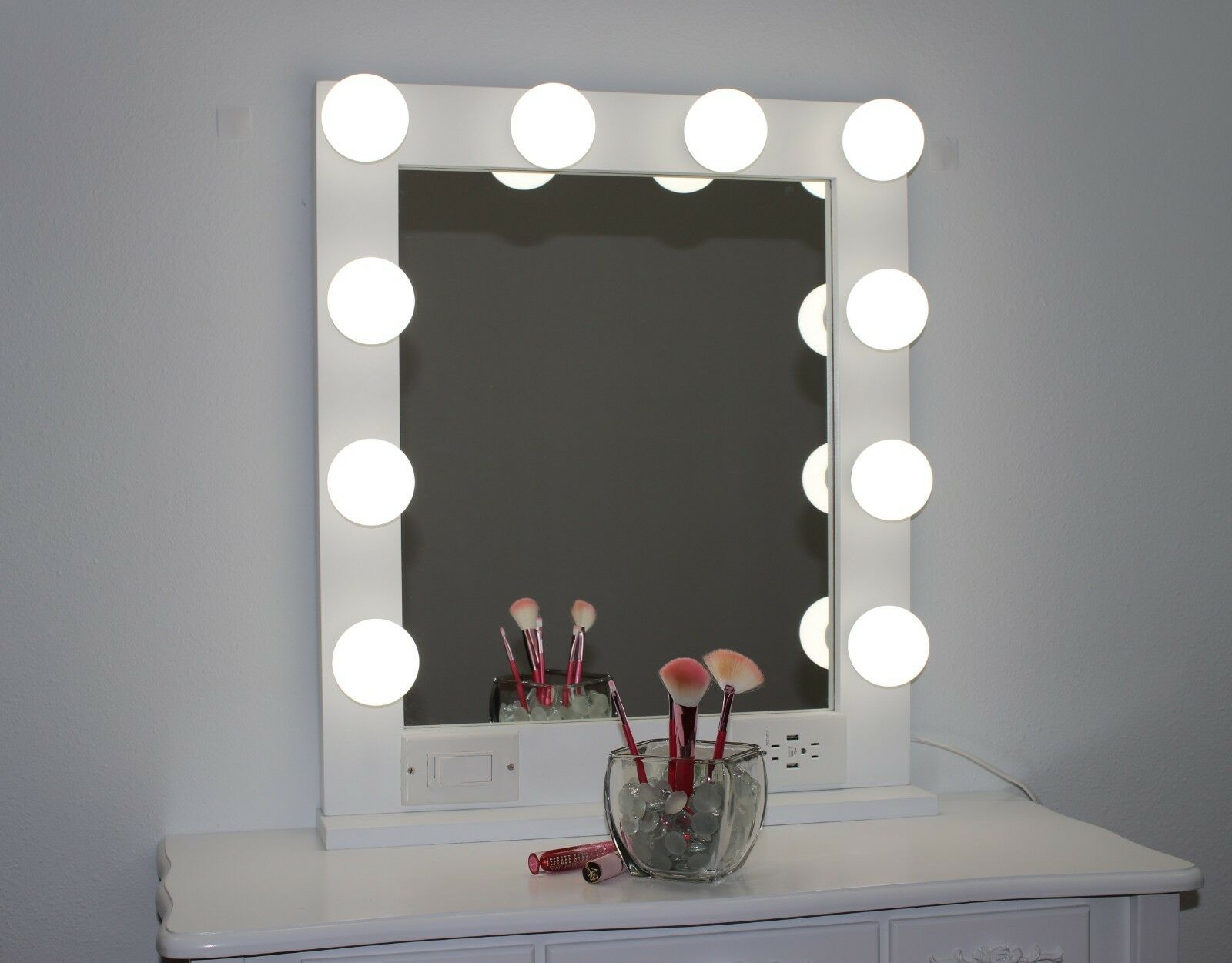 Hollywood Style Lighted Vanity Makeup Mirror 24 X 28 1 Of 9free