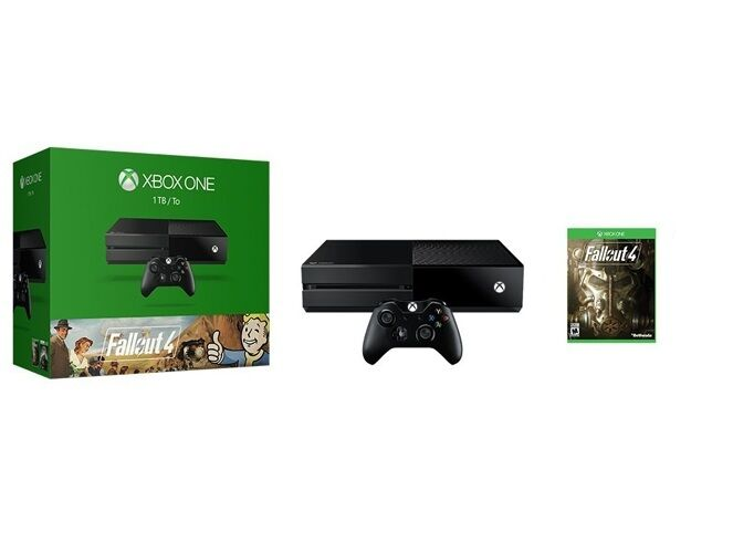 Microsoft xbox one fallout 4 bundle 1 tb black console picclick - What consoles will fallout 4 be on ...