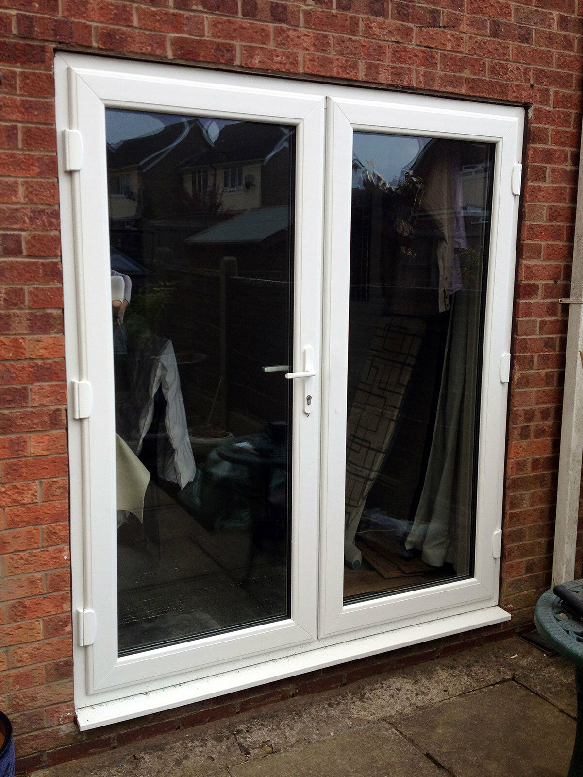 White upvc french doors white in stock for White french doors