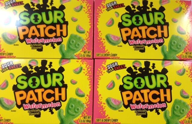 904222 4 X 99g SOUR PATCH WATERMELON SOFT & CHEWY CANDY