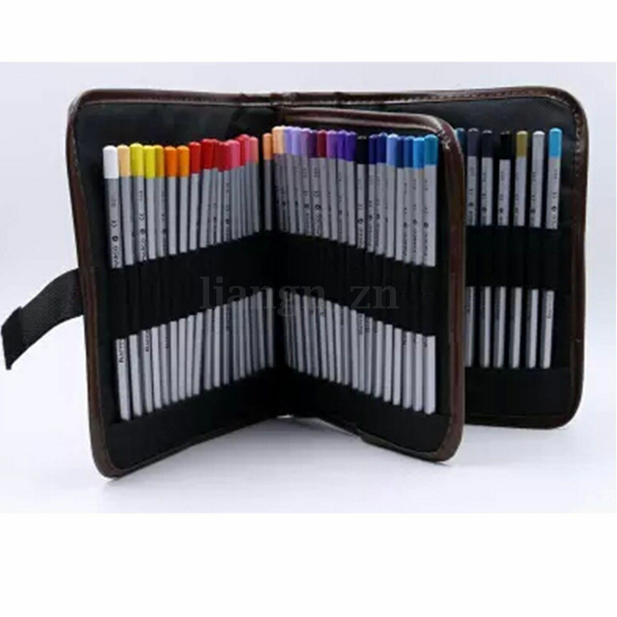 72 stylos trousse scolaire rangement maquillage sac crayon. Black Bedroom Furniture Sets. Home Design Ideas