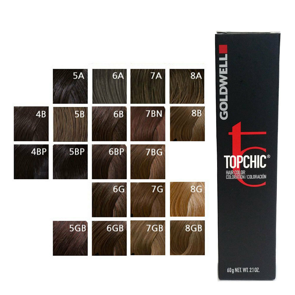 Goldwell Topchic Permanent Hair Color Tubes 21 Oz Brown Color