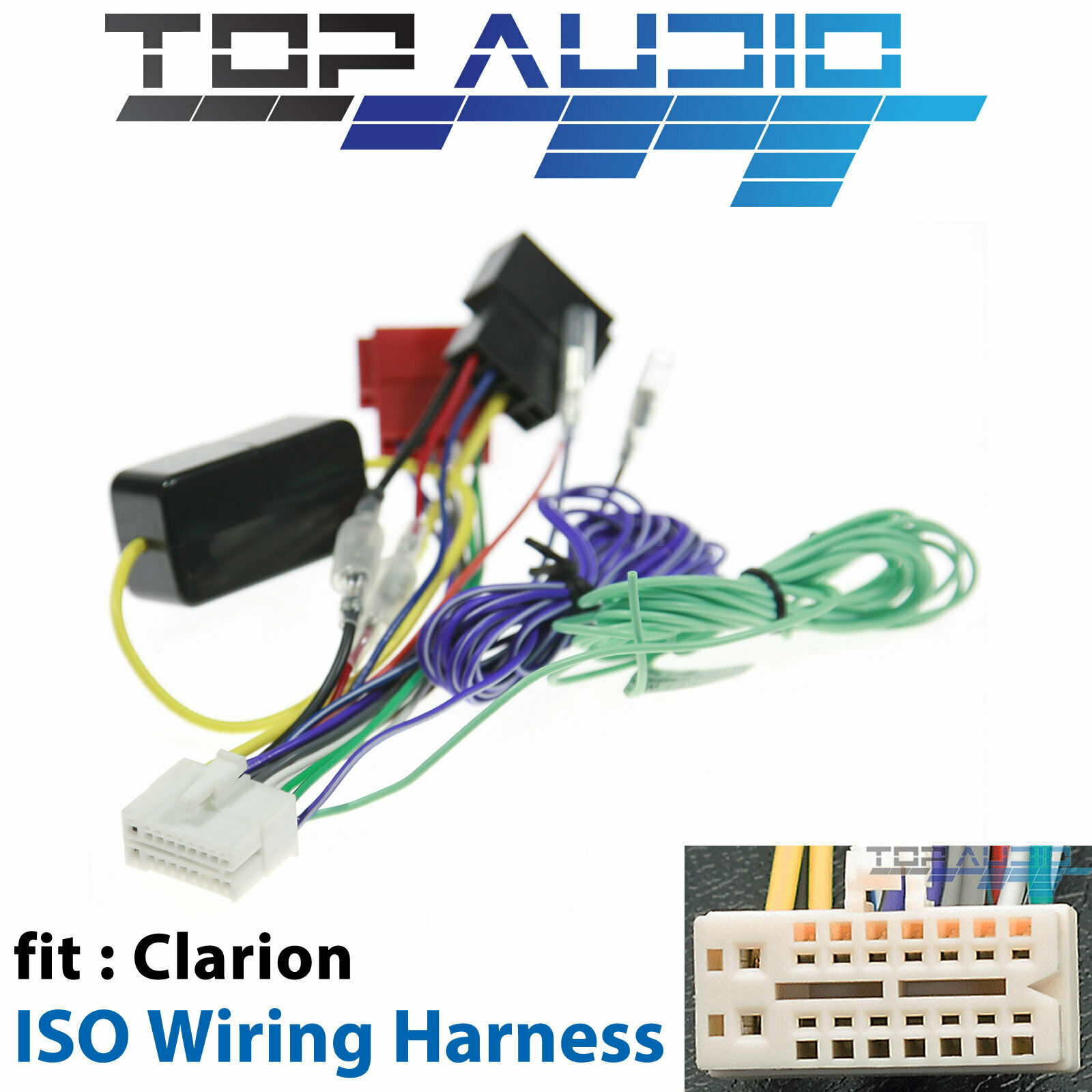 Clarion Vz402a Iso Wiring Harness Cable Connector Adaptor Lead Loom 5 Wire Electrical Connectors Plug 1 Of 3only Available