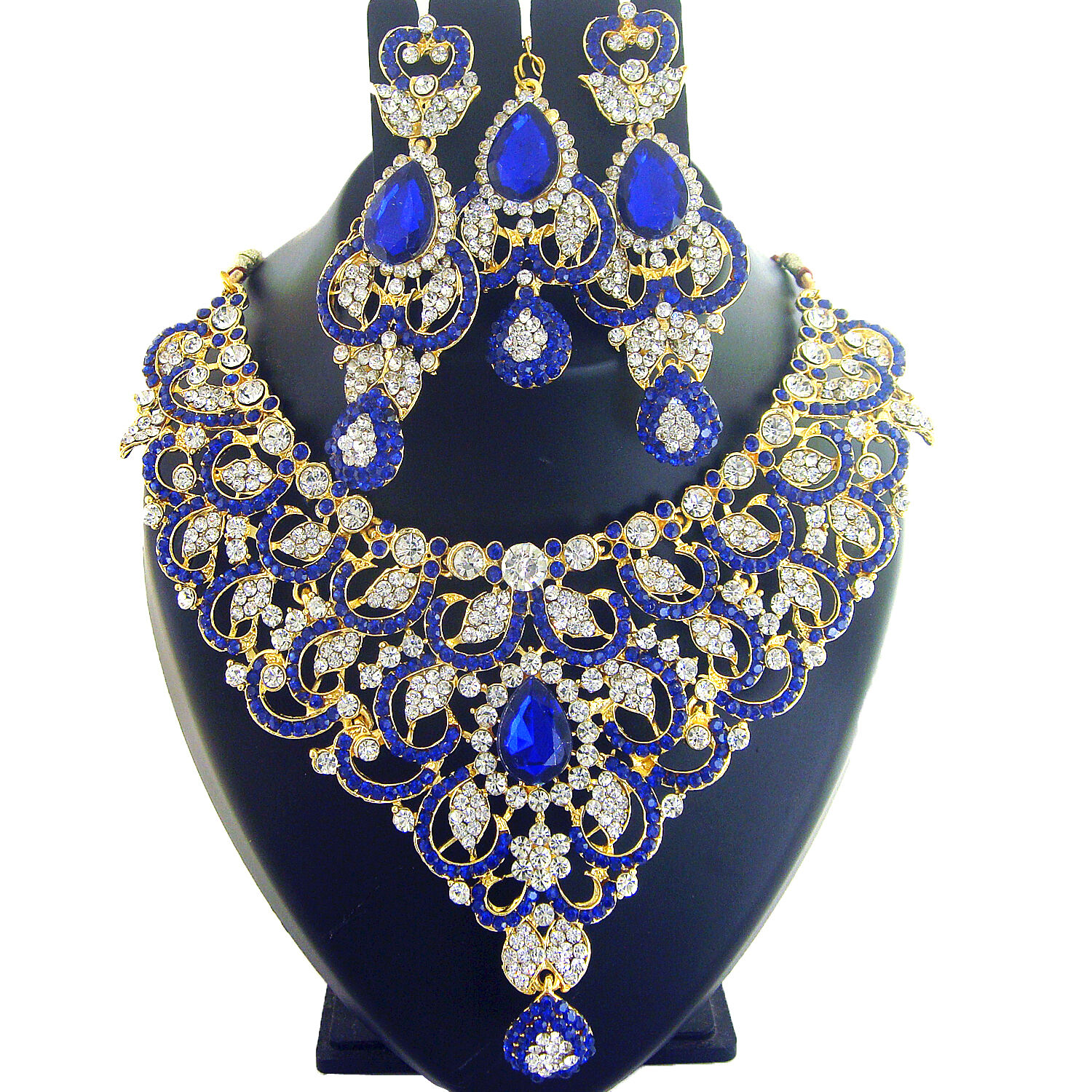 4056 Indian Bridal Jewelry Bollywood New Necklace Ethnic: INDIAN JEWELRY ETHNIC Bridal Necklace Bollywood