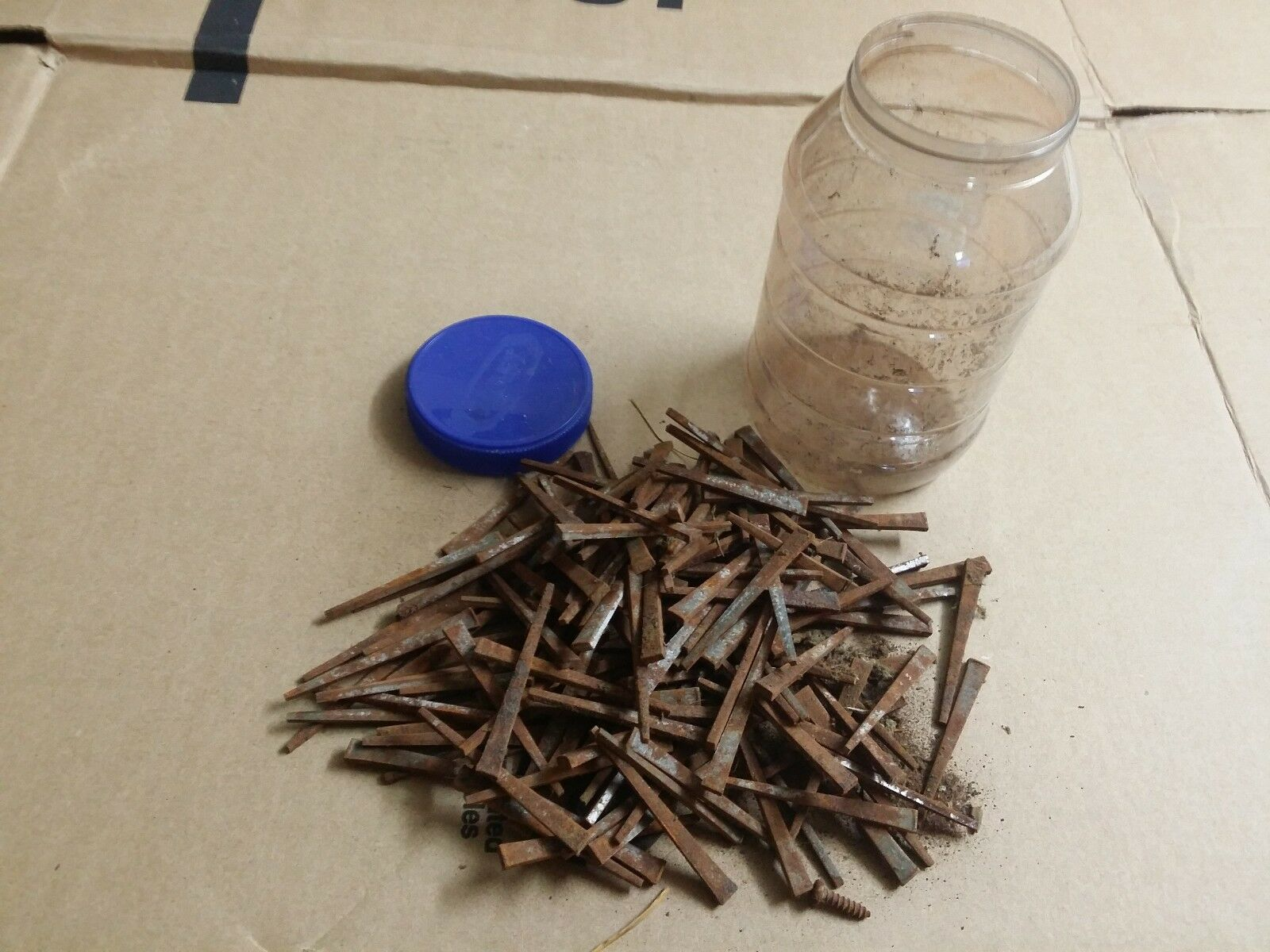 """Large Lot Antique Square Cut Head Nails 2 1/2"""" FAST SHIPPING!"""